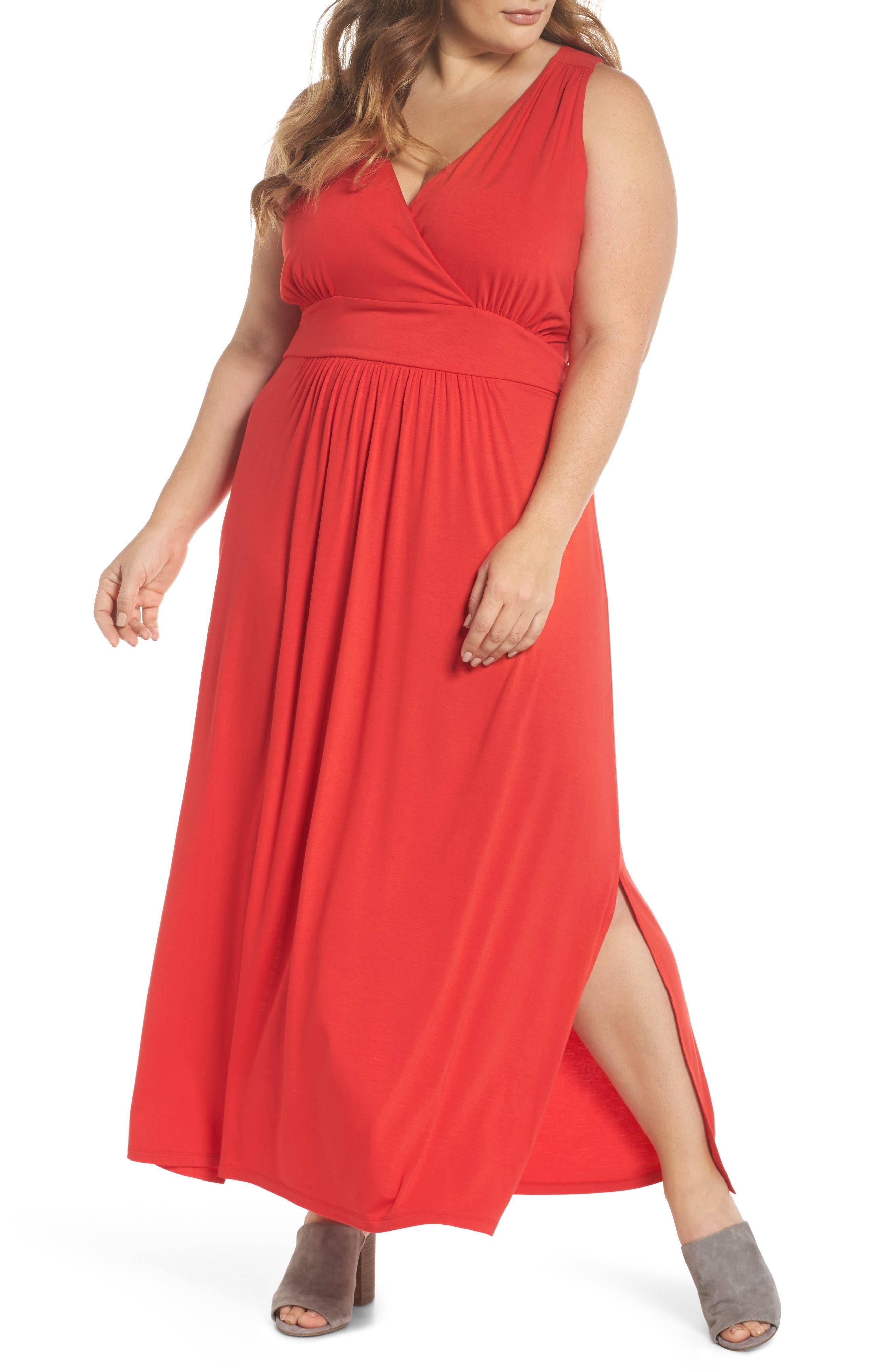 Caslon® Knit Maxi Dress (Plus Size)