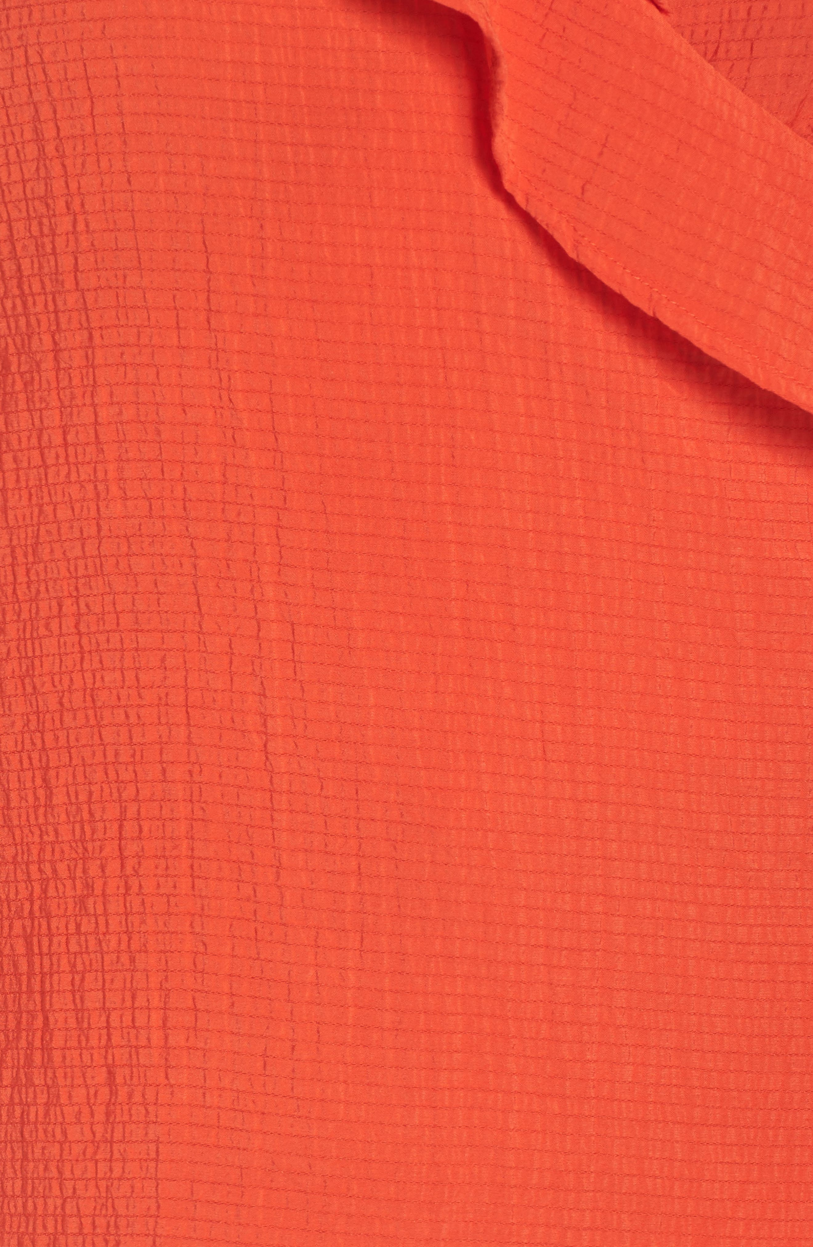 The Rose Ruffle Blouse,                             Alternate thumbnail 6, color,                             Red