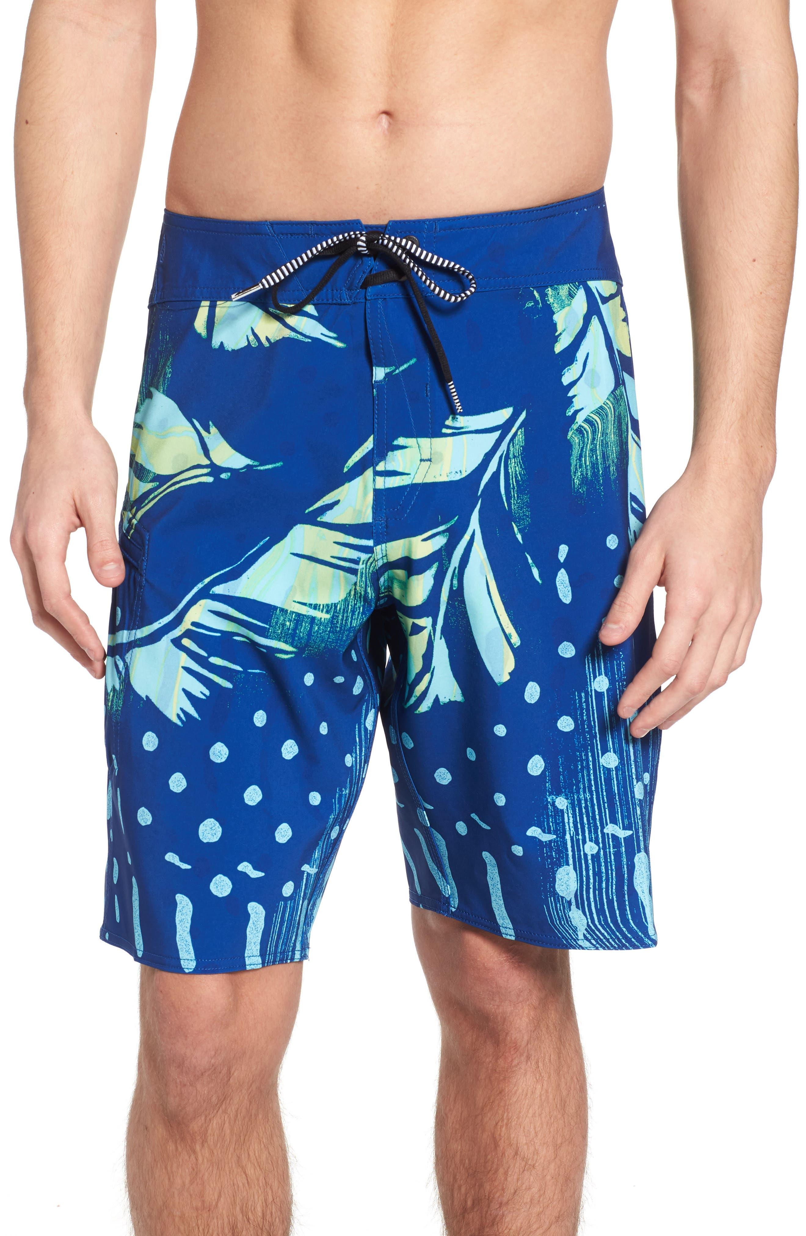Flora Dot Mod Boardshorts,                         Main,                         color, Blue Camper