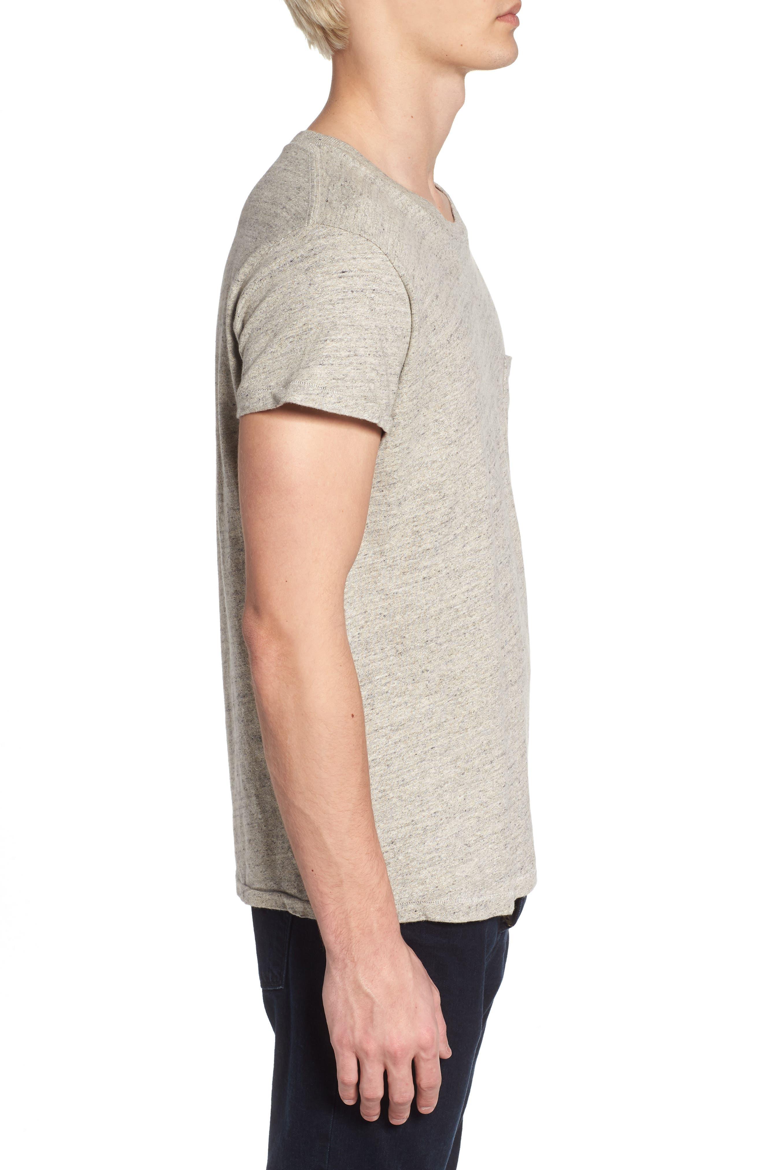 Levi's Vintage Clothing 1950s Sportswear Pocket T-Shirt,                             Alternate thumbnail 3, color,                             Grey