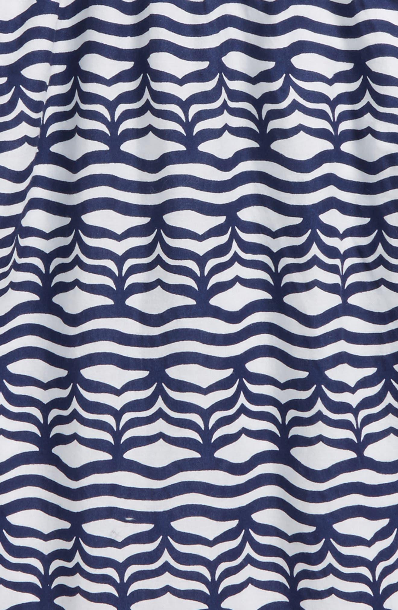 Whale Tail Wave Dress,                             Alternate thumbnail 3, color,                             Deep Bay