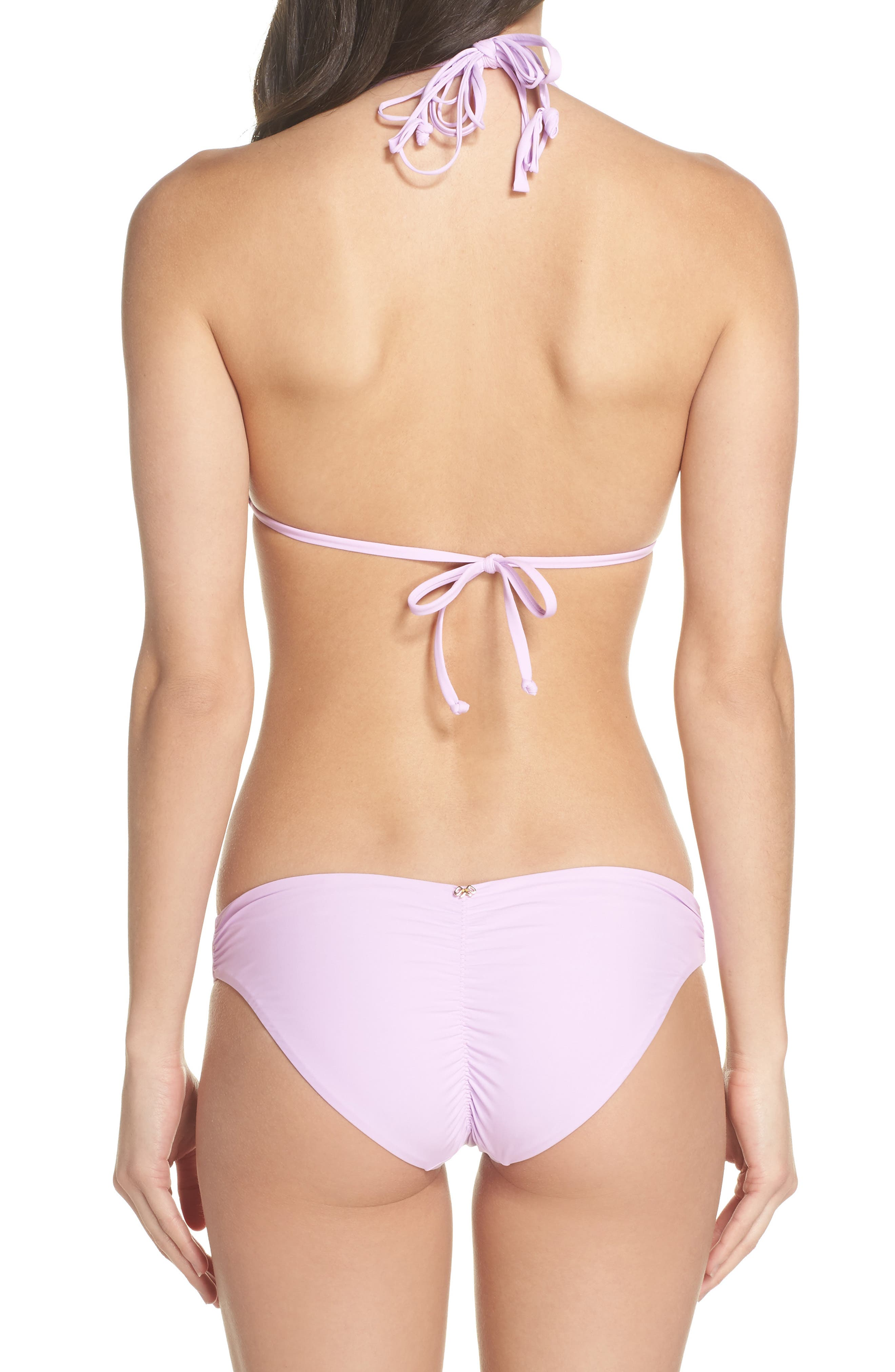 Ruched Bikini Bottoms,                             Alternate thumbnail 6, color,                             Lilac