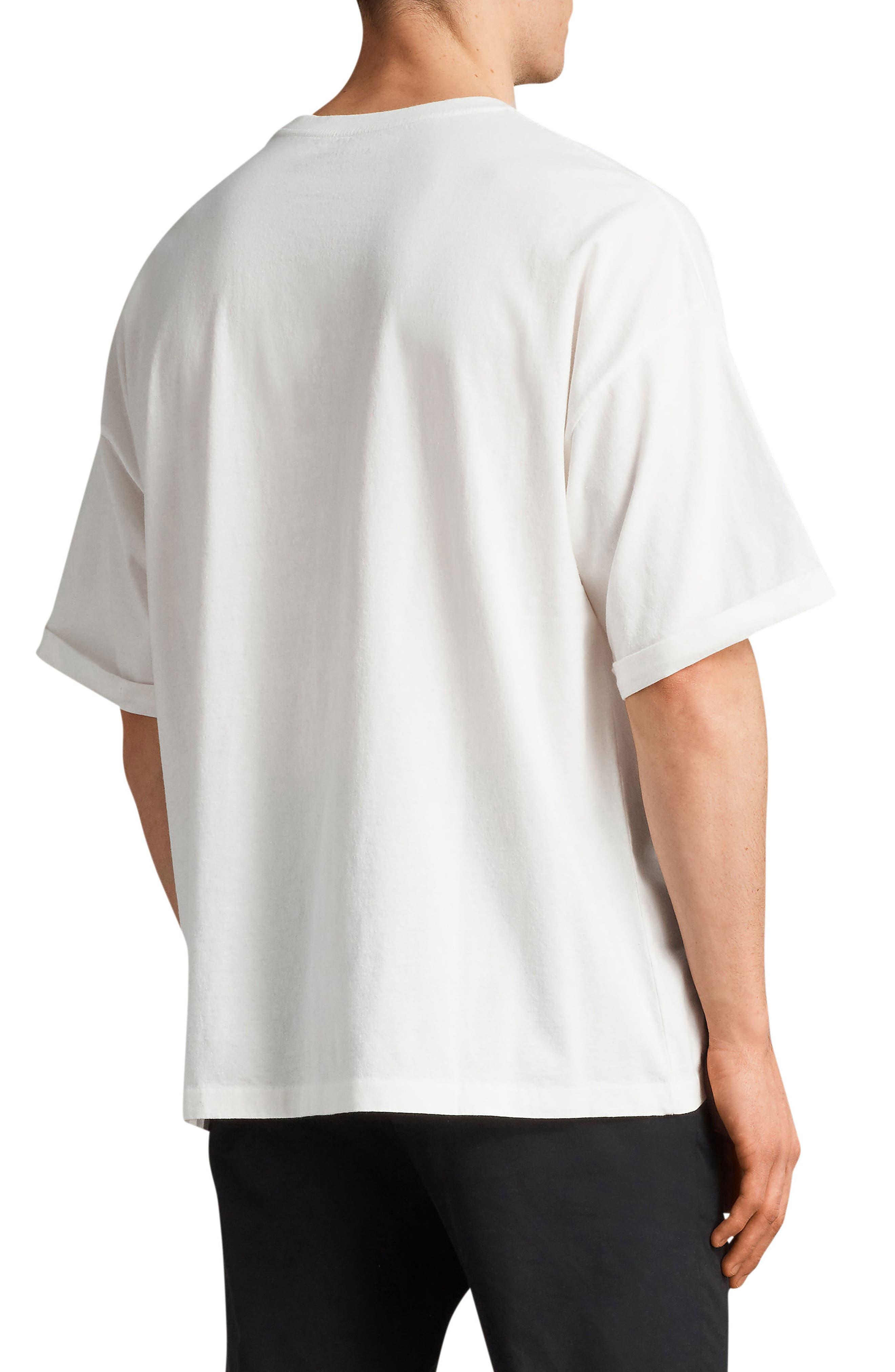 Kleeve Oversized Crewneck T-Shirt,                             Alternate thumbnail 2, color,                             Chalk Marl