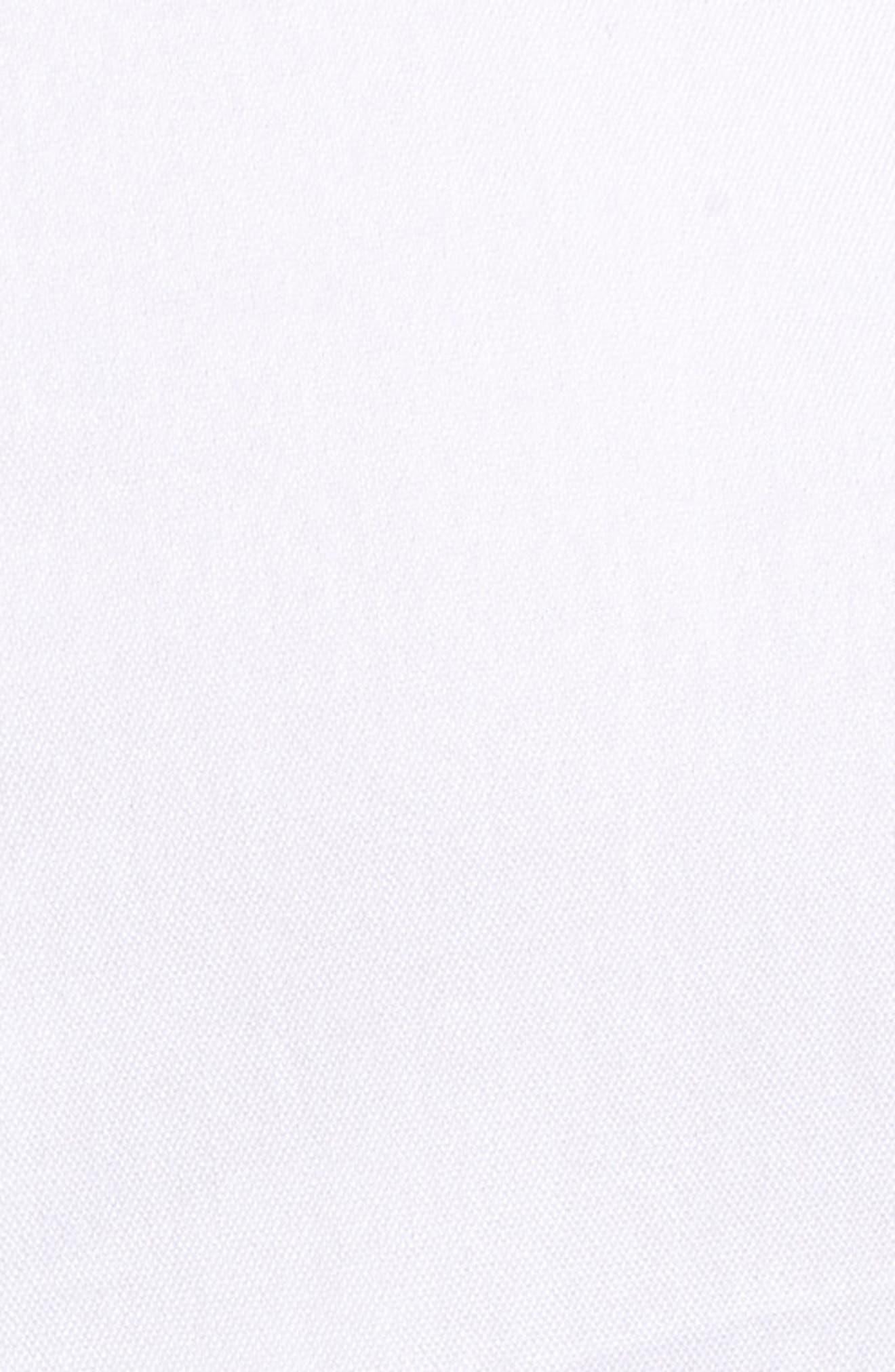 Stretch Poplin Shirt,                             Alternate thumbnail 6, color,                             White