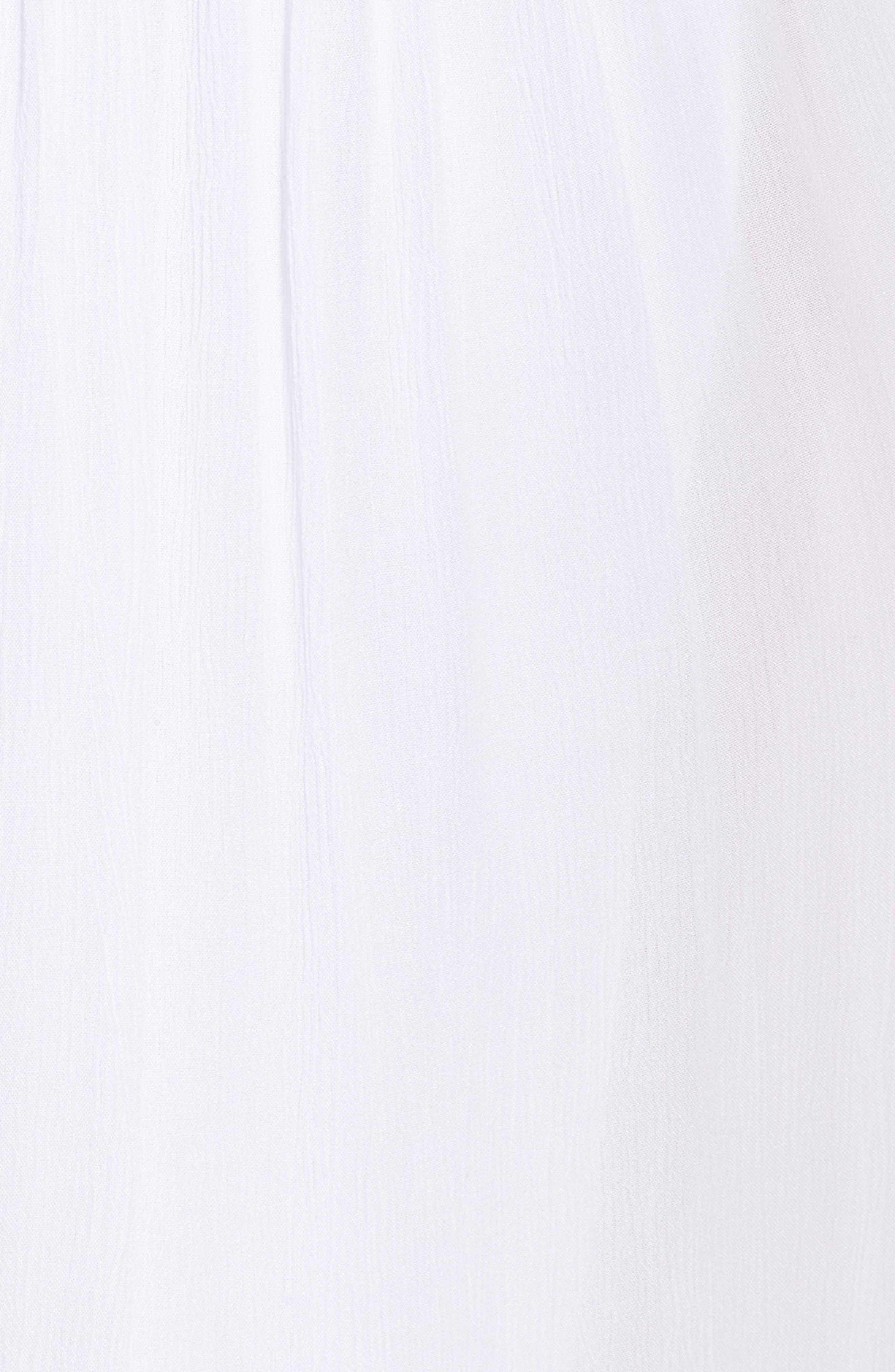 Gauze Cover-Up Pants,                             Alternate thumbnail 5, color,                             White