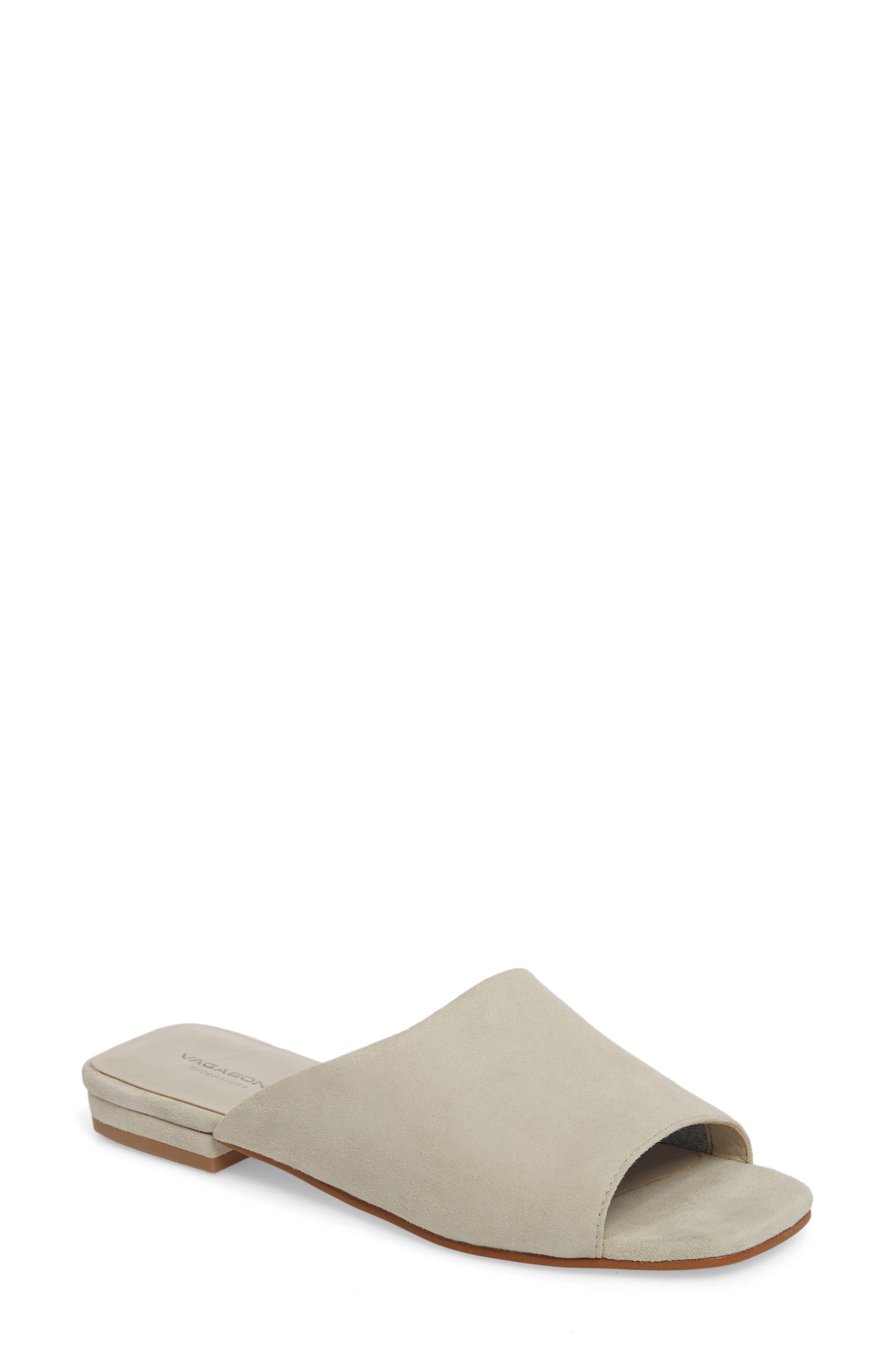 Becky Slide Sandal,                         Main,                         color, Ecru Suede