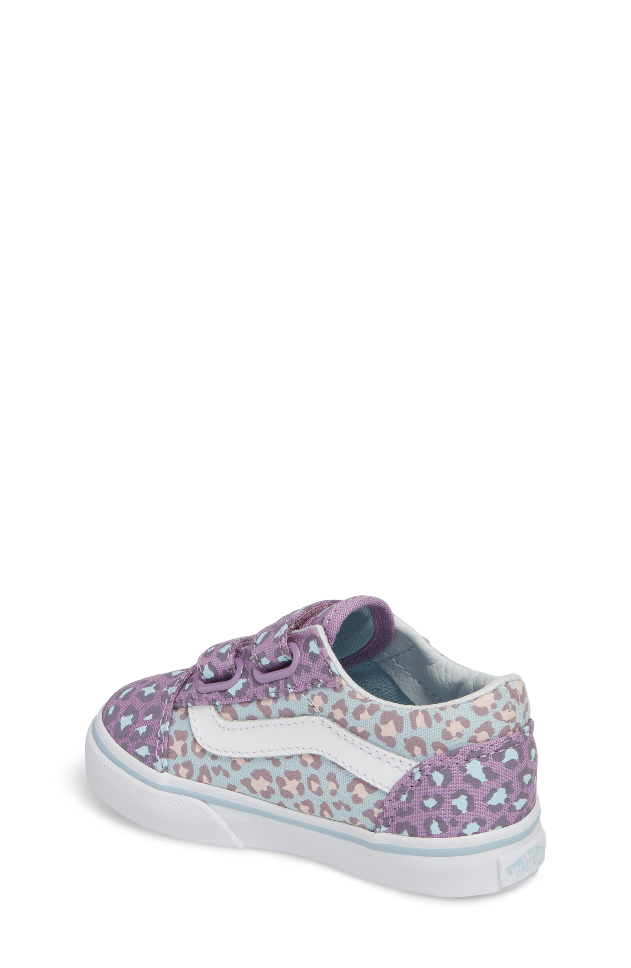 'Old Skool V' Sneaker,                             Alternate thumbnail 2, color,                             Blue/ Orchid Leopard