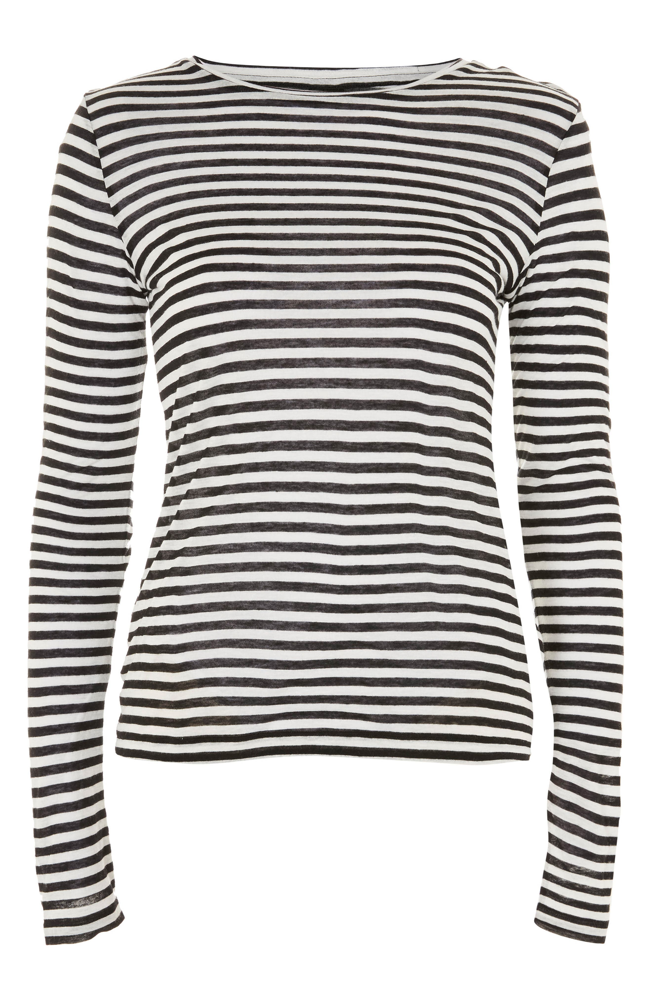 Topshop Stripe Slub Shirt