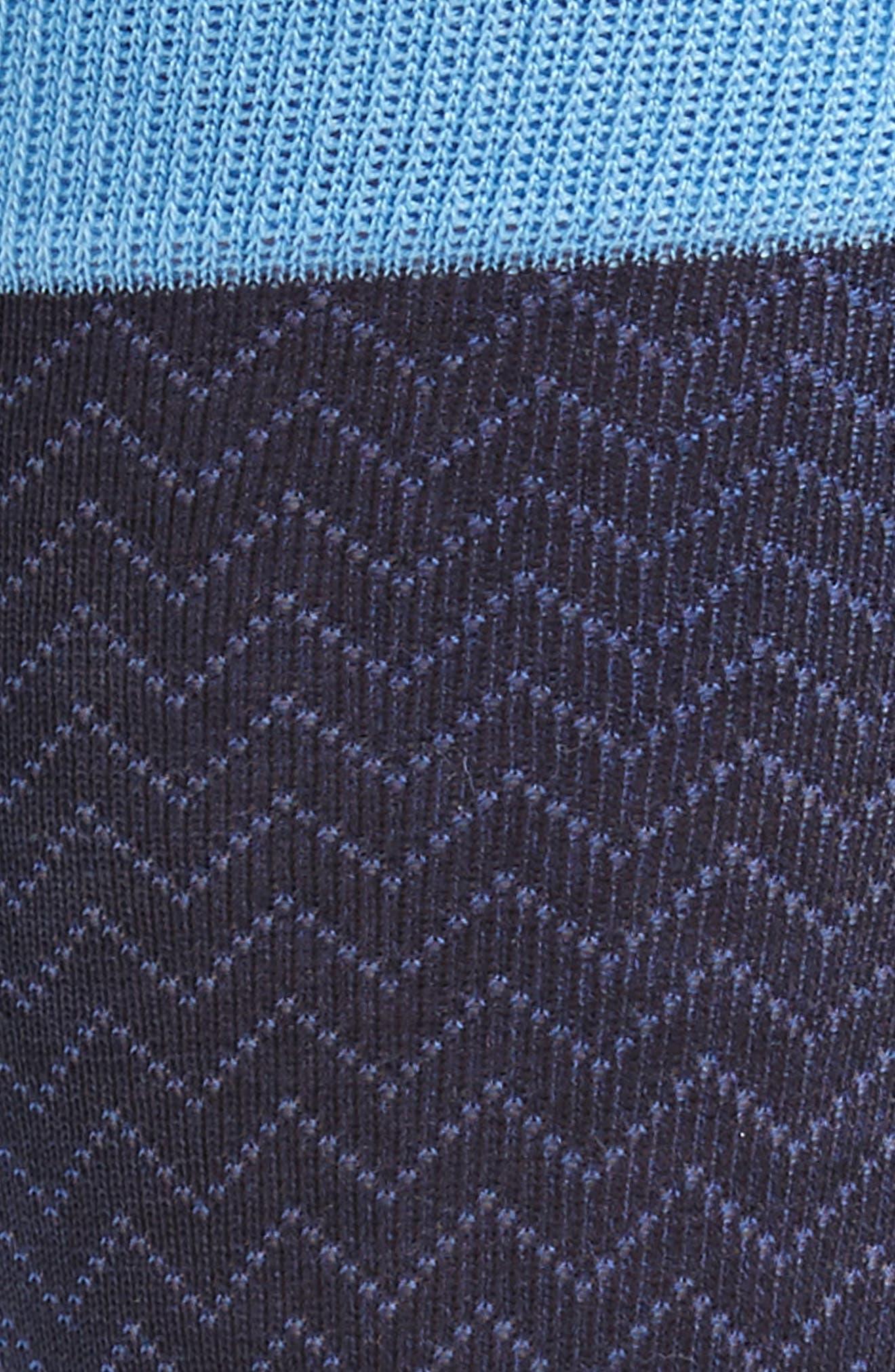 Mercerized Herringbone Socks,                             Alternate thumbnail 2, color,                             Navy/ Blue