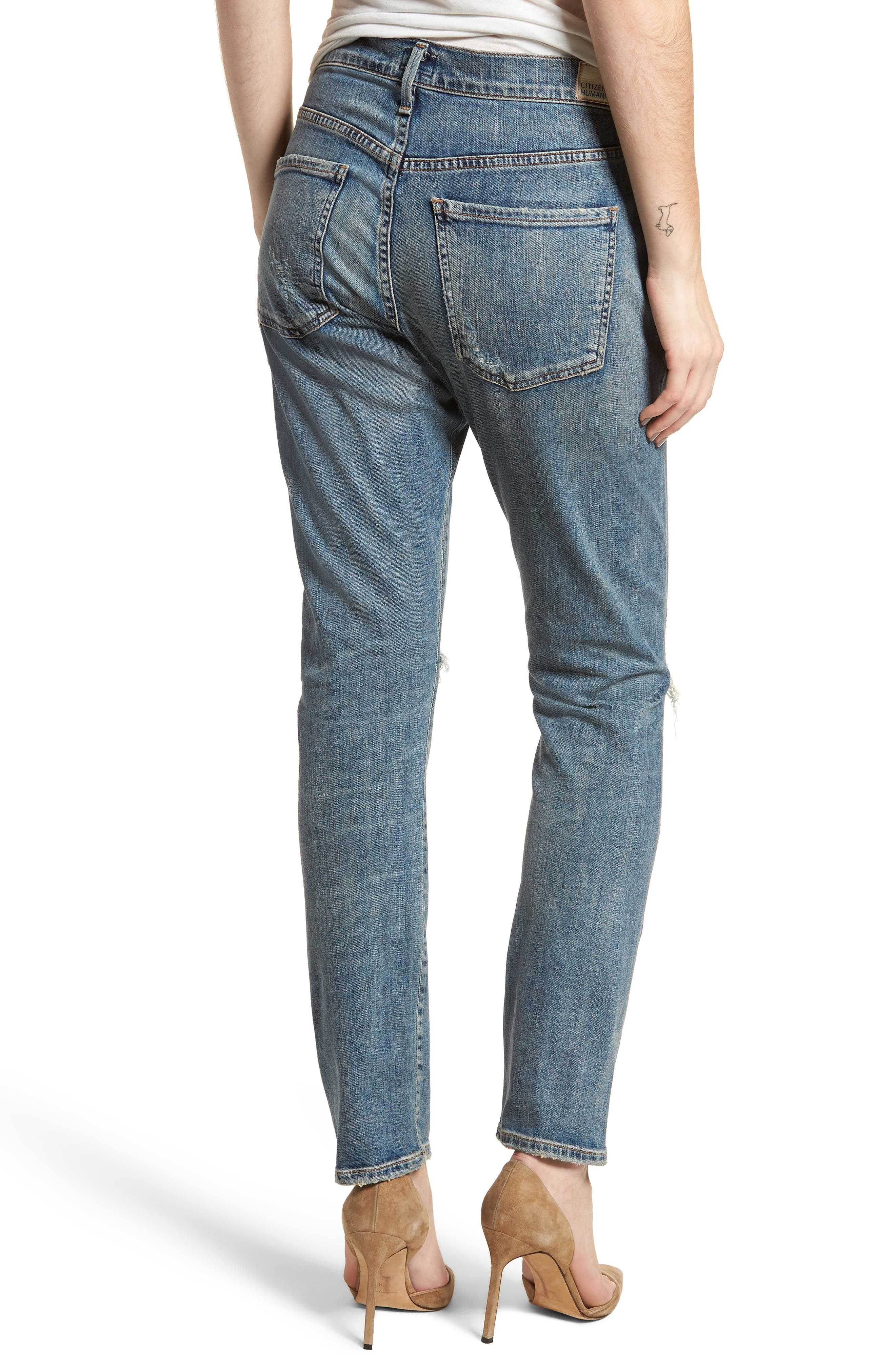 Corey Slouchy Slim Jeans,                             Alternate thumbnail 2, color,                             Outpost