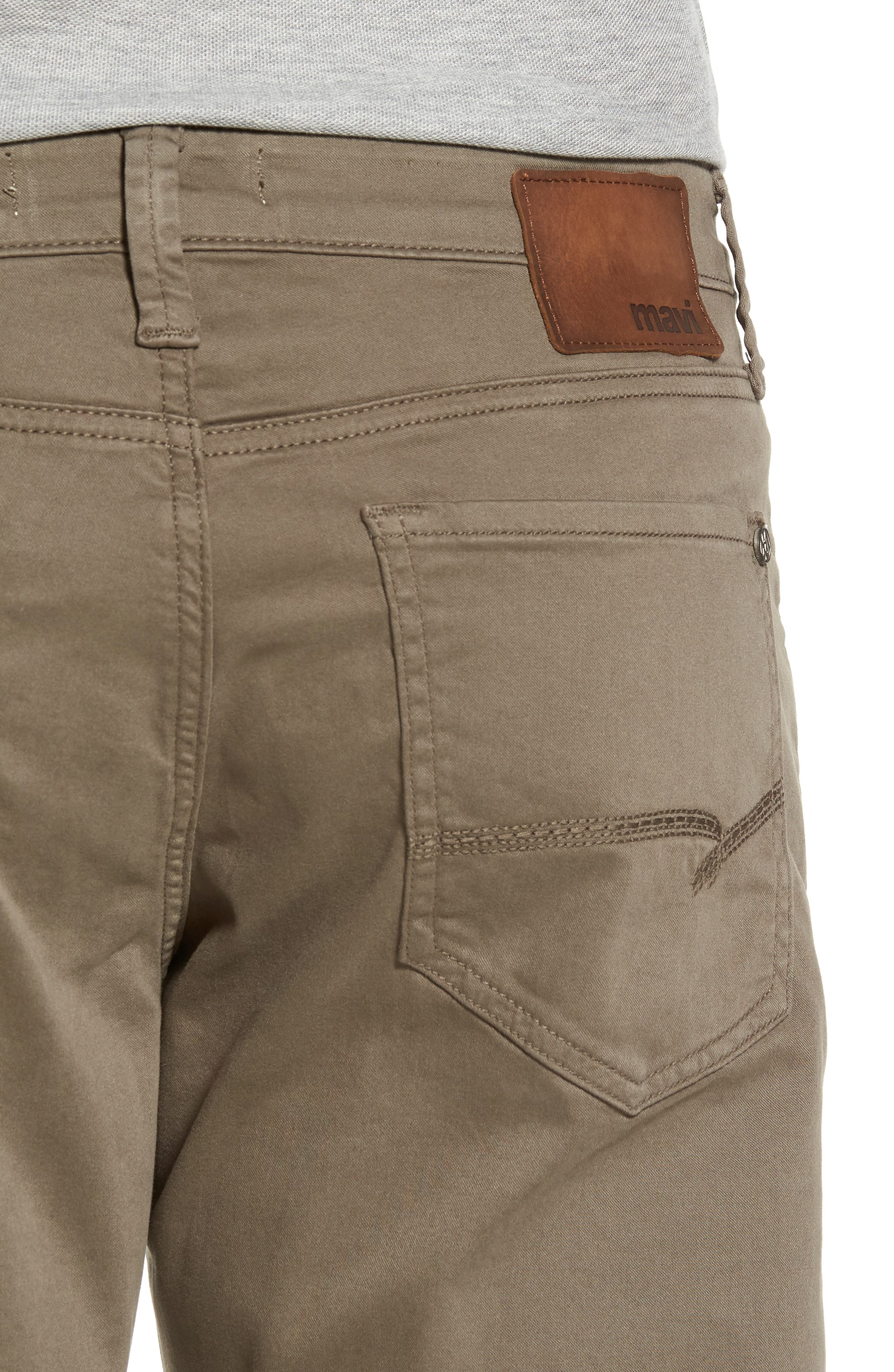 Matt Relaxed Fit Twill Pants,                             Alternate thumbnail 4, color,                             Dusty Olive