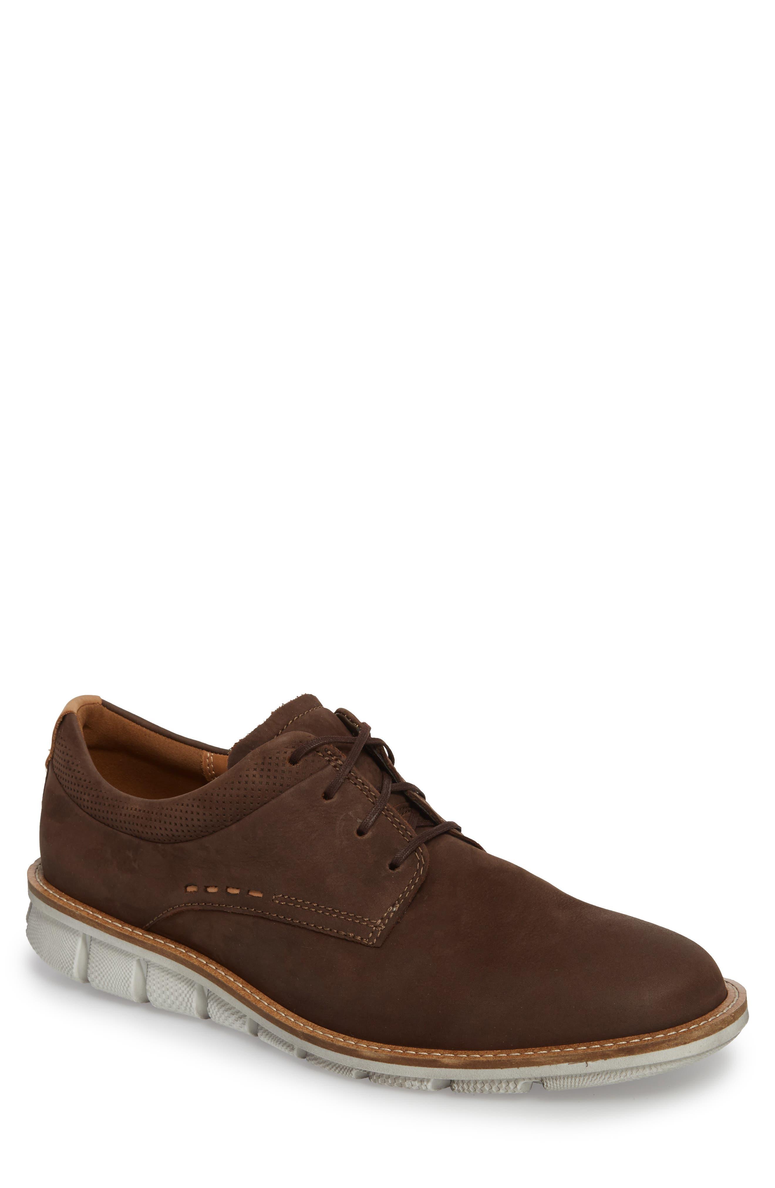 Jeremy Hybrid Plain Toe Derby,                             Main thumbnail 1, color,                             Coffee Leather