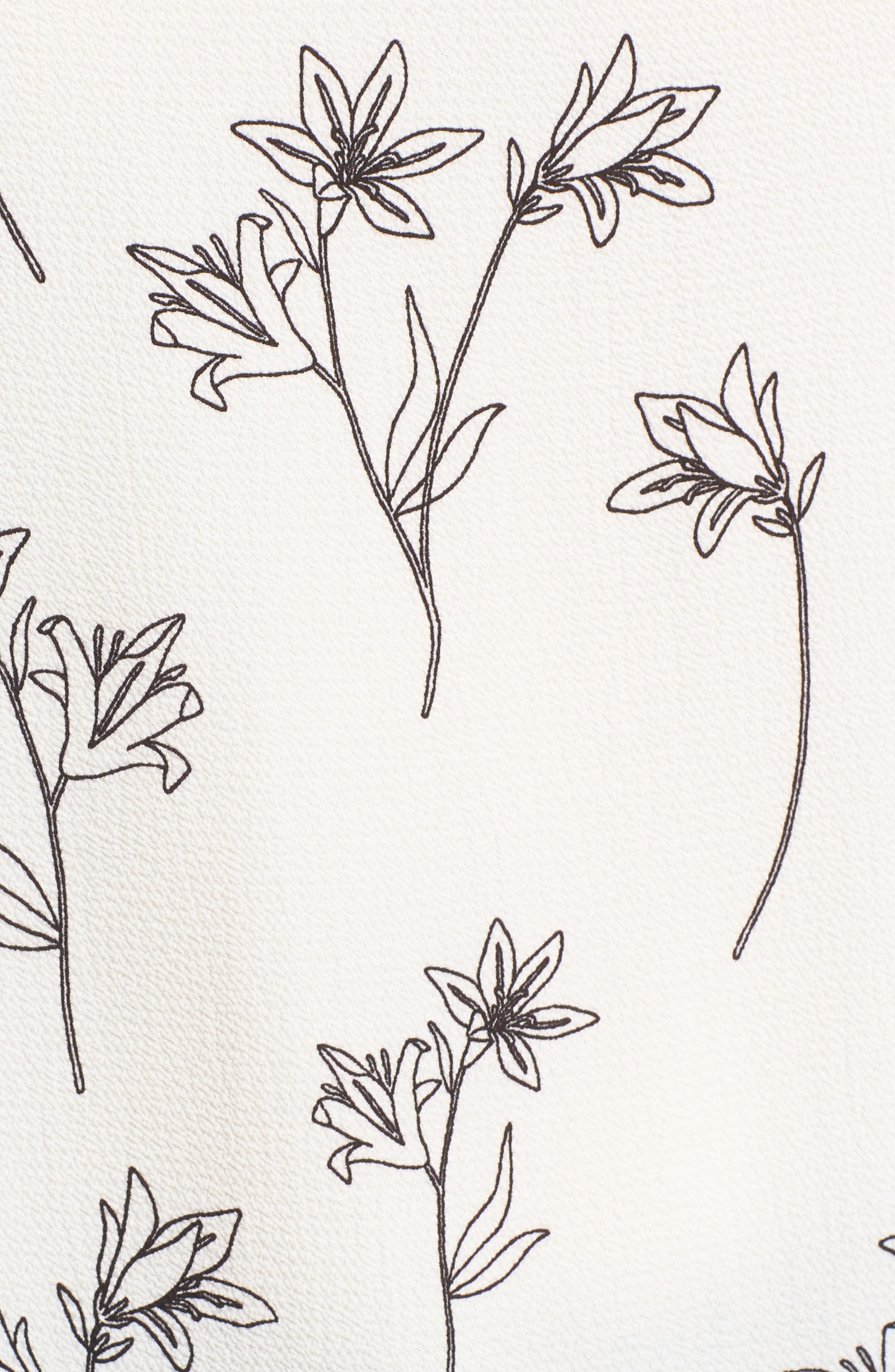 Floral Split Bell Sleeve Blouse,                             Alternate thumbnail 6, color,                             060-Rich Black