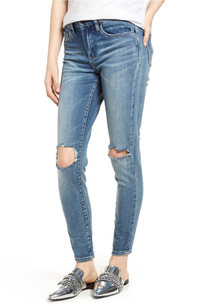 Ripped Skinny Jeans, Main, color, Delaytionship