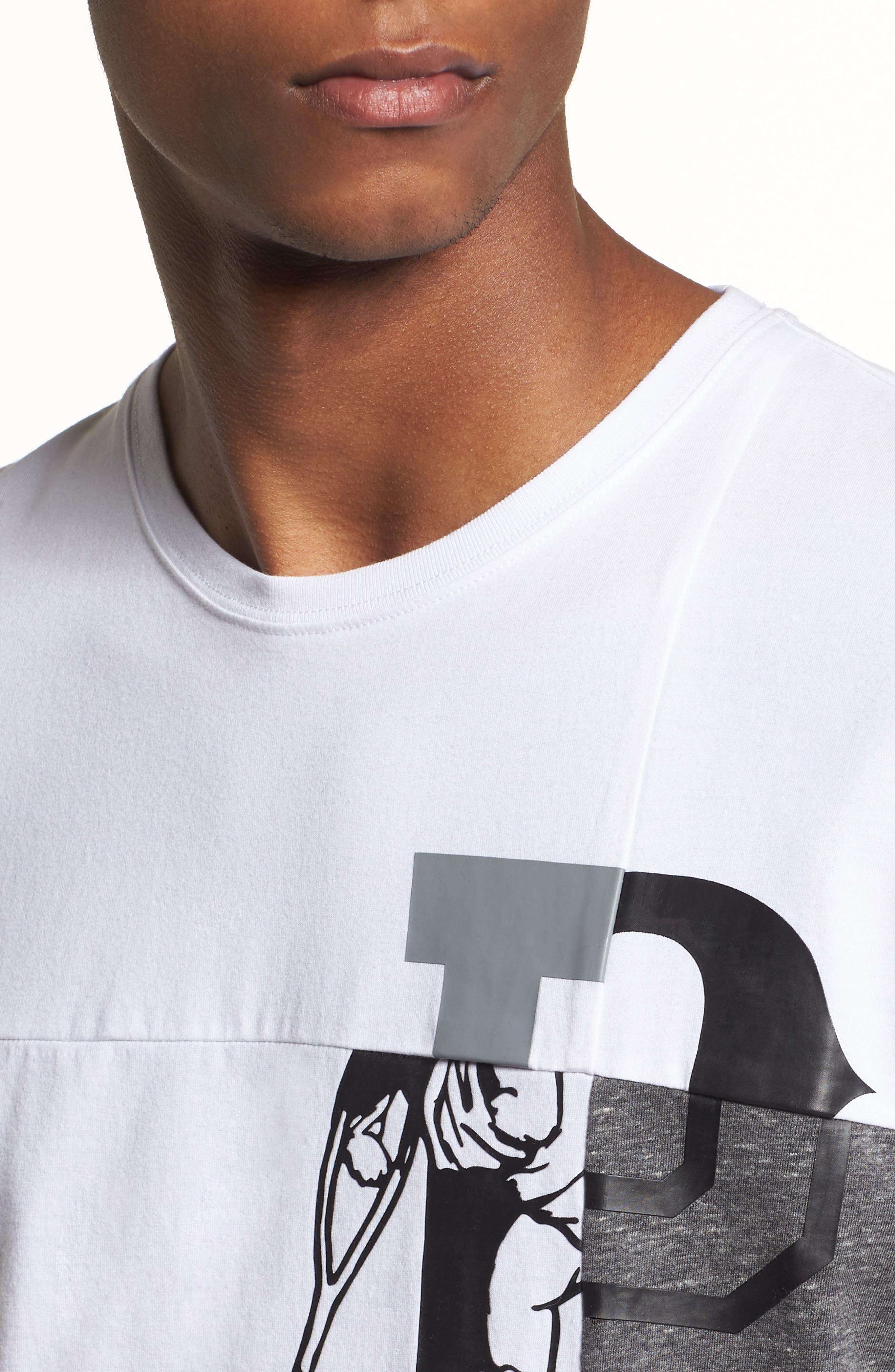 Colorblocked Logo T-Shirt,                             Alternate thumbnail 4, color,                             White