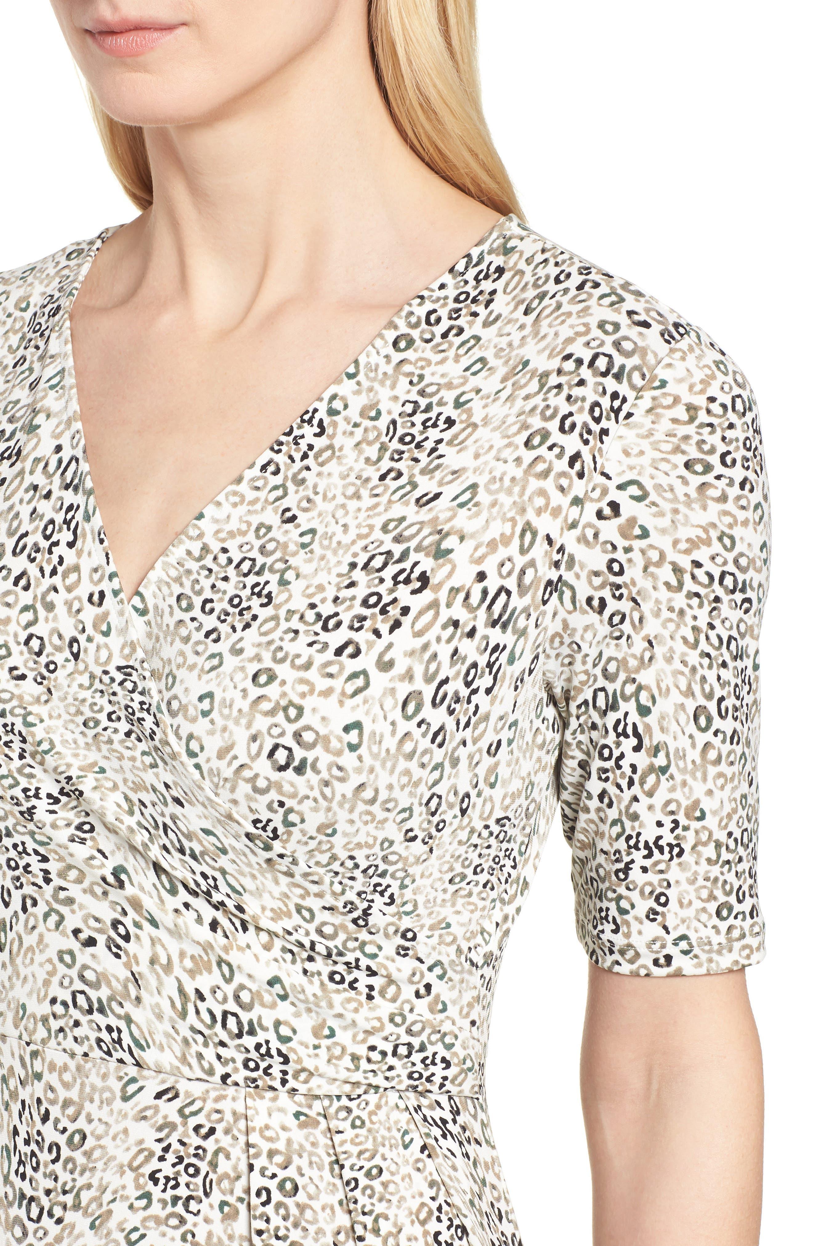 Leopard Print Maxi Dress,                             Alternate thumbnail 4, color,                             103-New Ivory