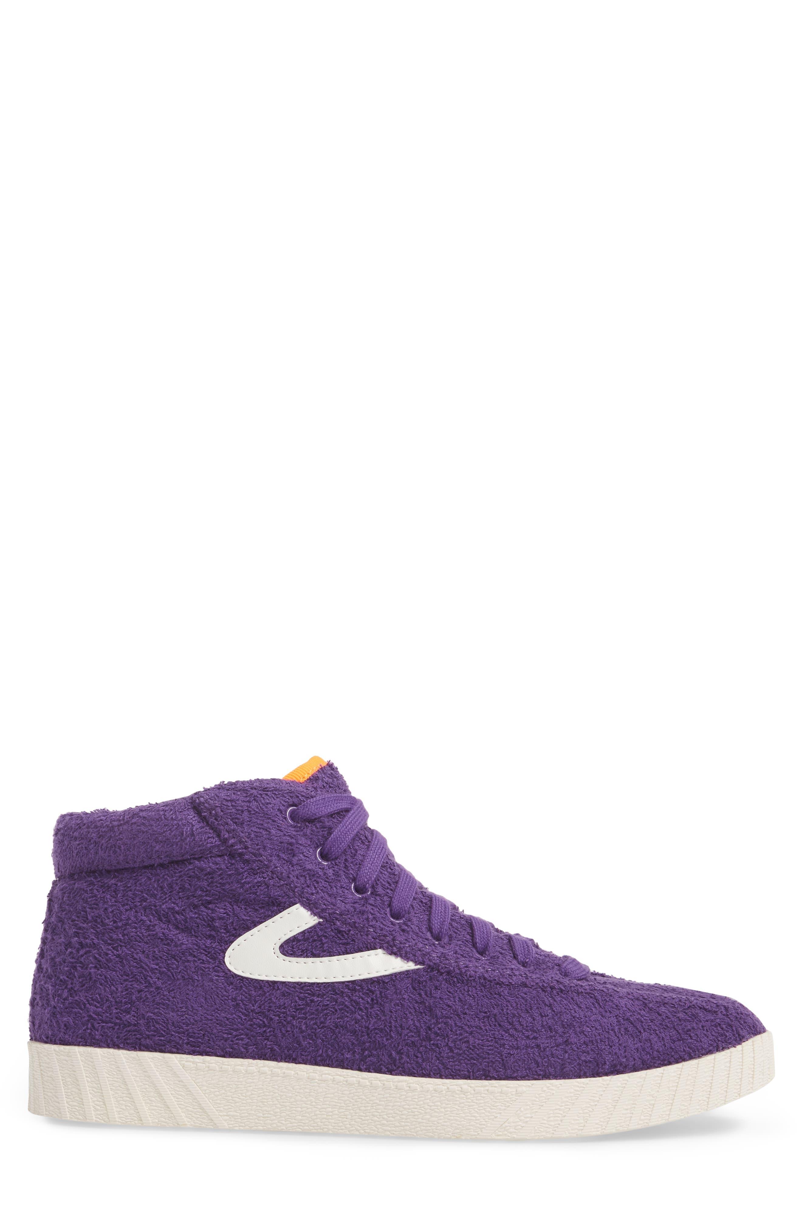 Andre 3000 Nylite High Top Sneaker,                             Alternate thumbnail 3, color,                             Vibrant Purple/ Vintage White