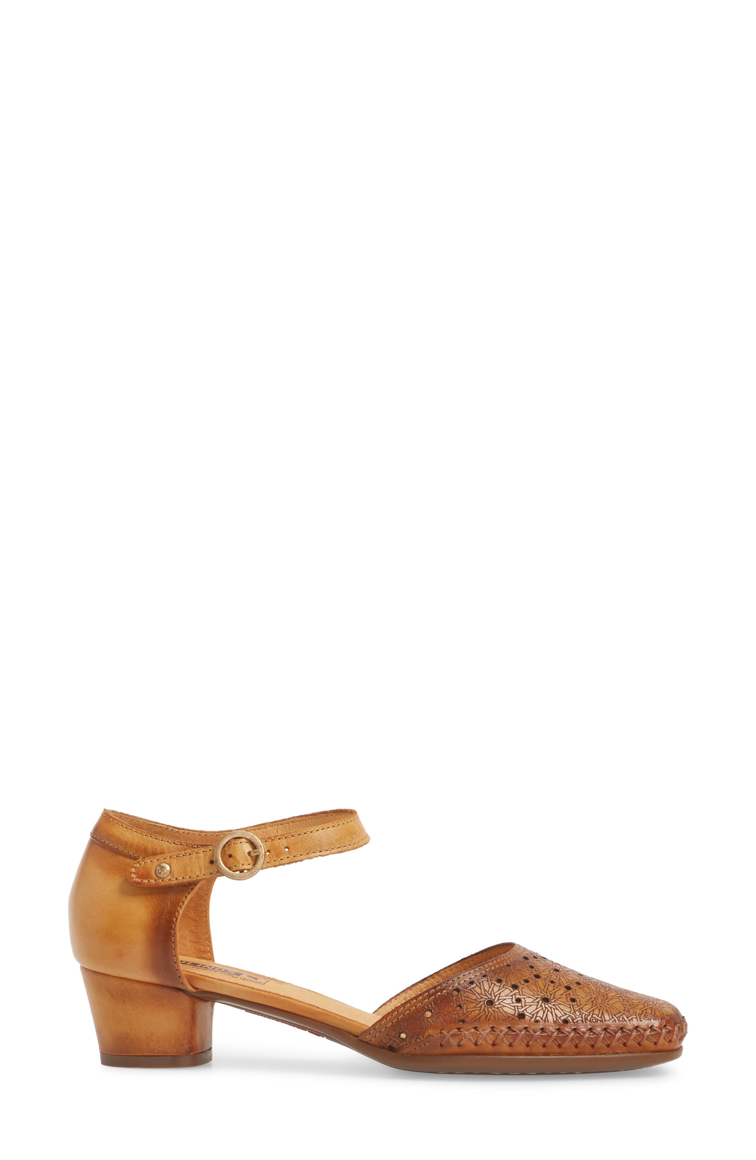 Gomera Pump,                             Alternate thumbnail 3, color,                             Lava Leather