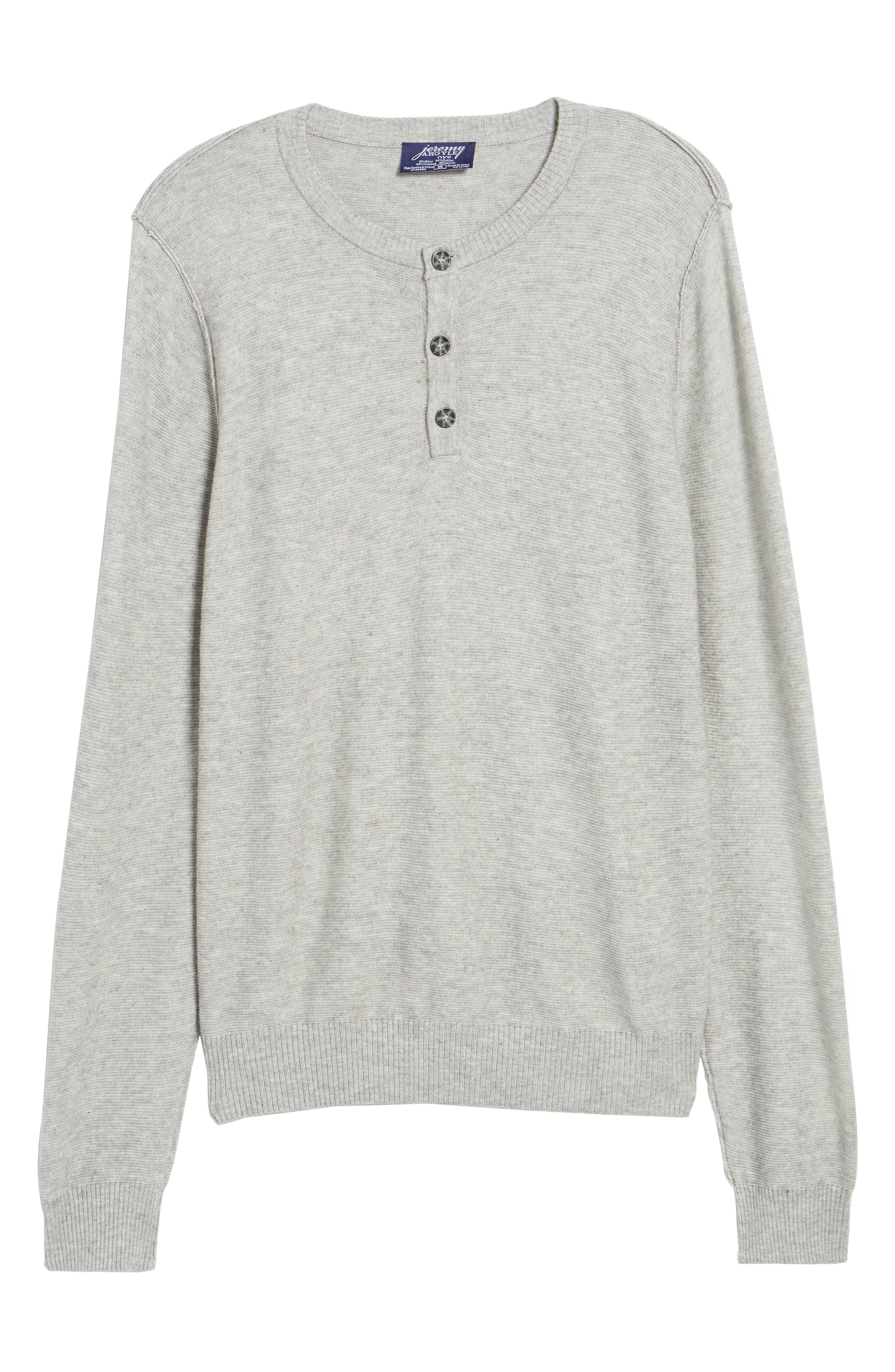 Tailored Fit Henley,                             Alternate thumbnail 6, color,                             Light Grey