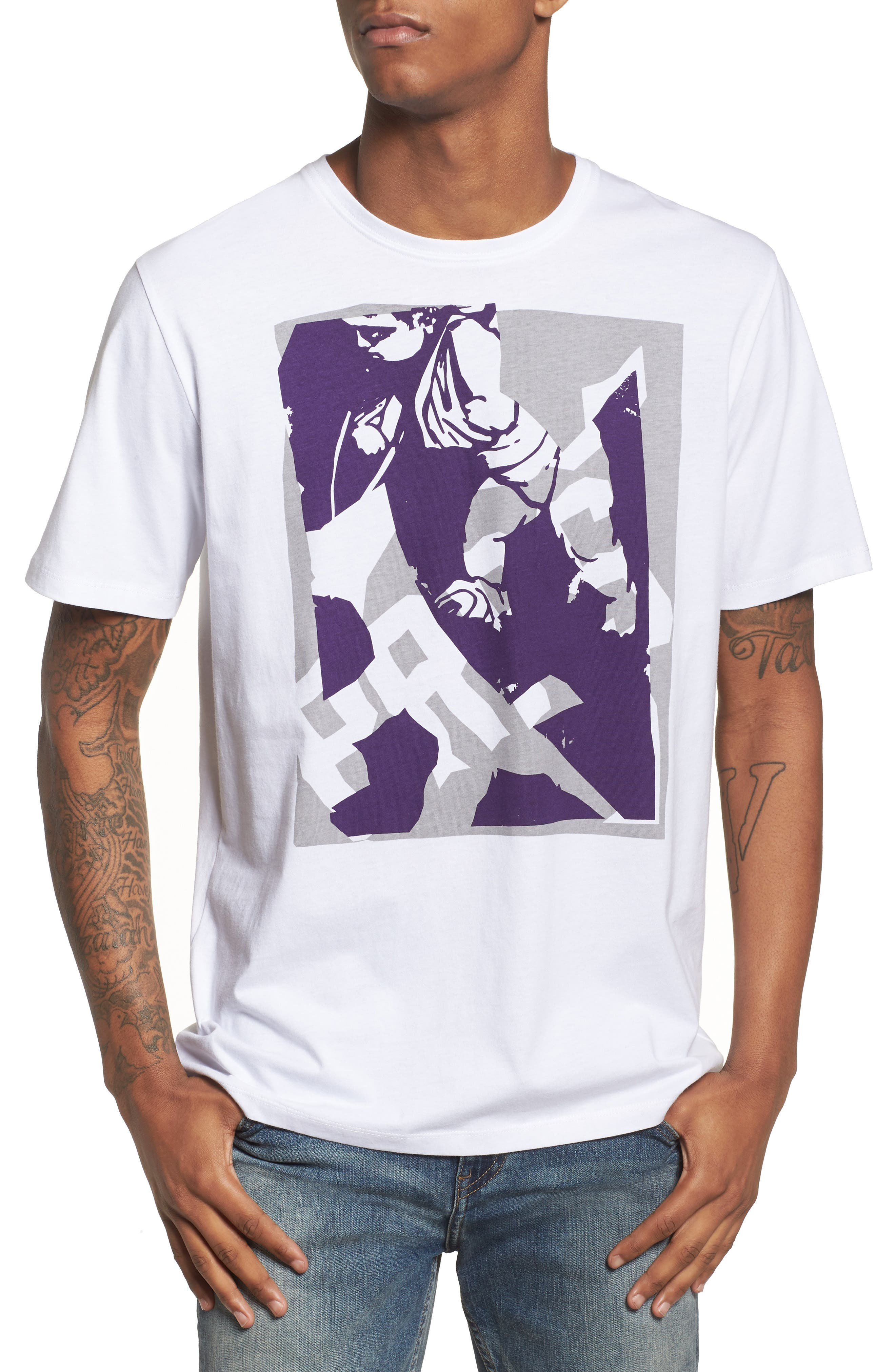 Abstract Cherub Graphic T-Shirt,                         Main,                         color, White