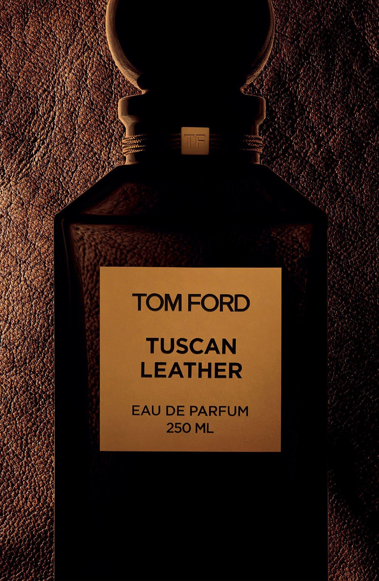 Private Blend Tuscan Leather Eau de Parfum Decanter,                             Alternate thumbnail 4, color,                             No Color