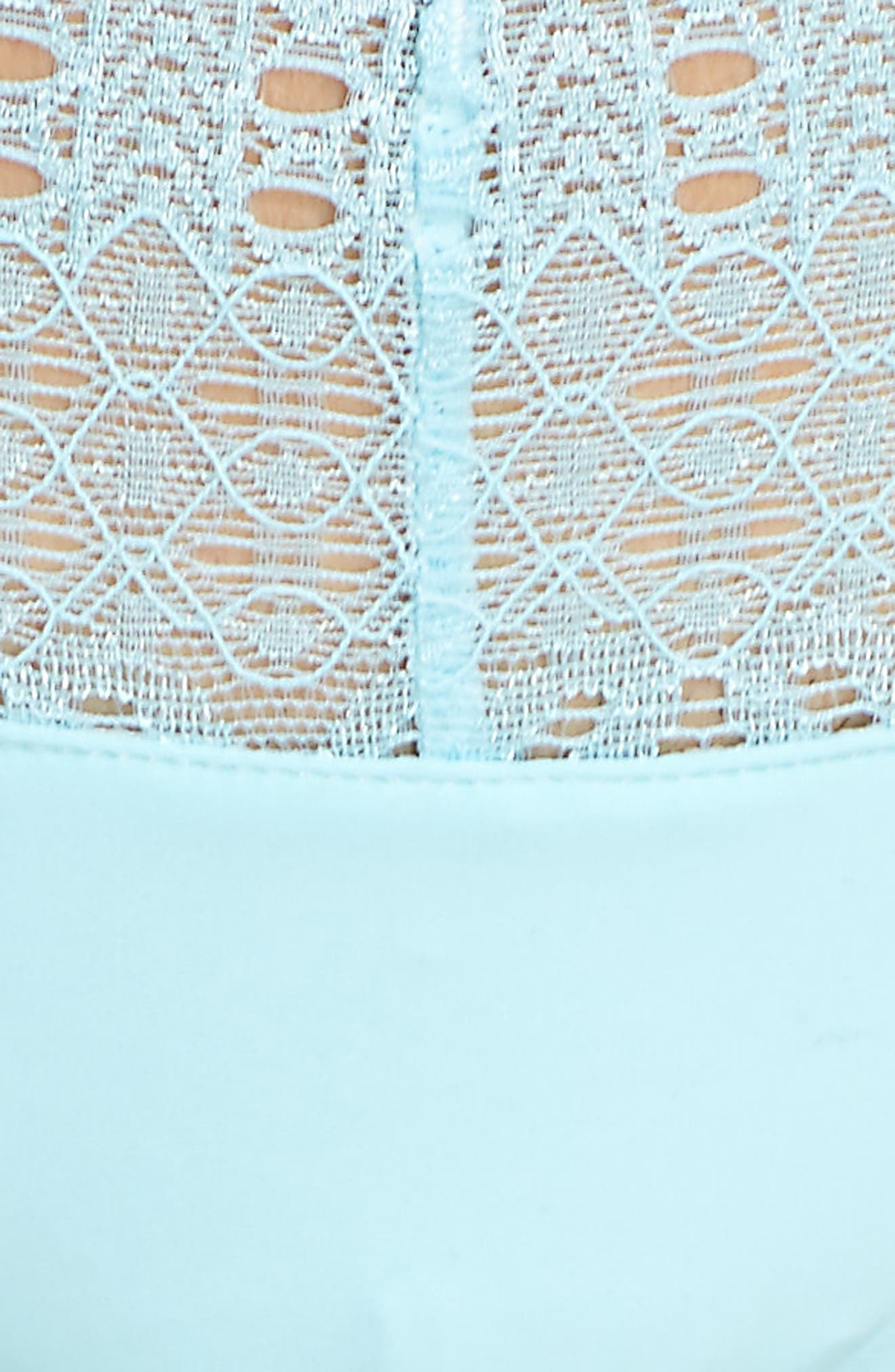 Lace Thong,                             Alternate thumbnail 6, color,                             Marine Mist