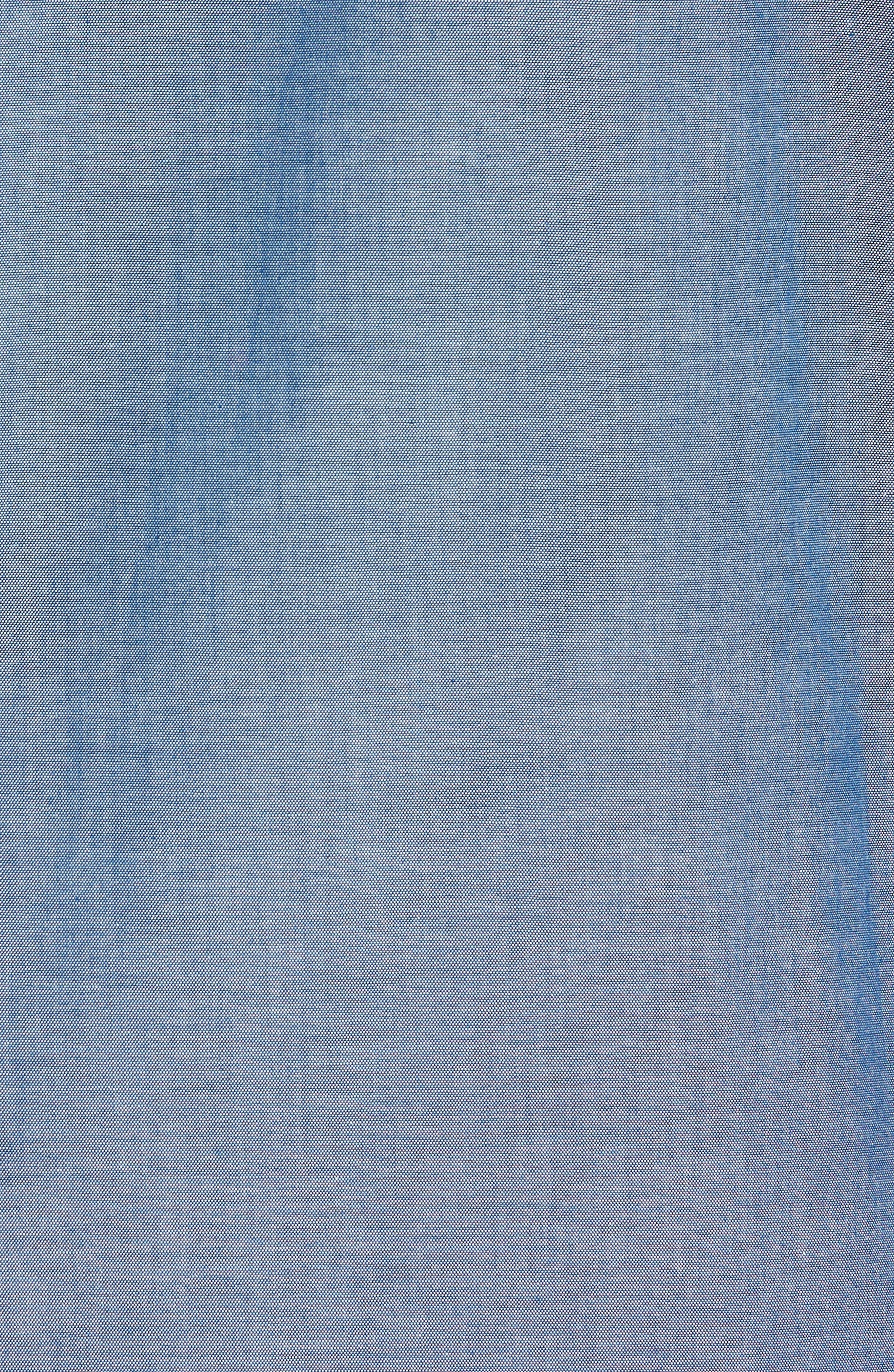 Cotton Pajama Shirt,                             Alternate thumbnail 5, color,                             Medium Indigo/ Dark Indigo