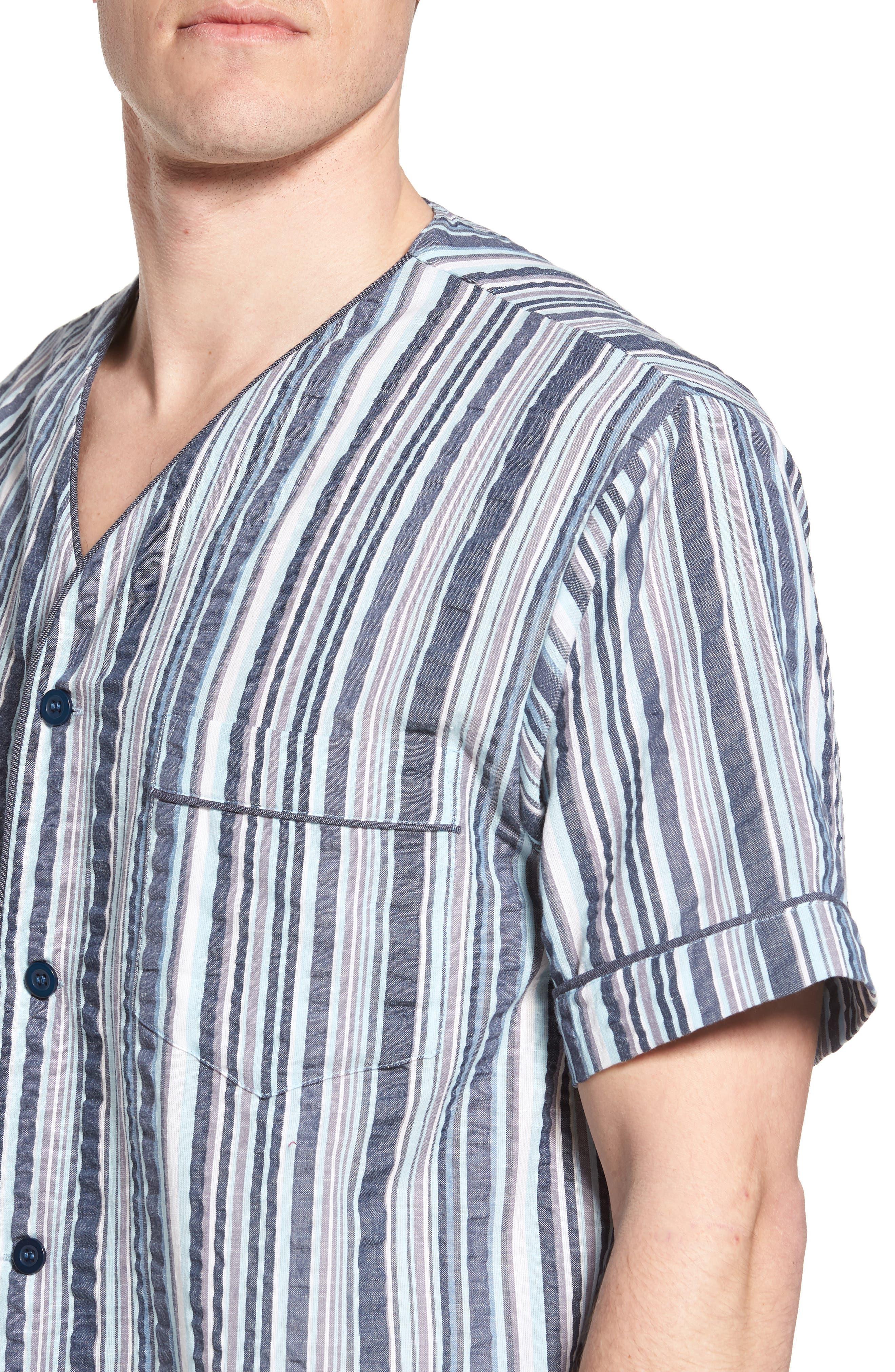 Summer Shell Short Pajamas,                             Alternate thumbnail 4, color,                             Ash