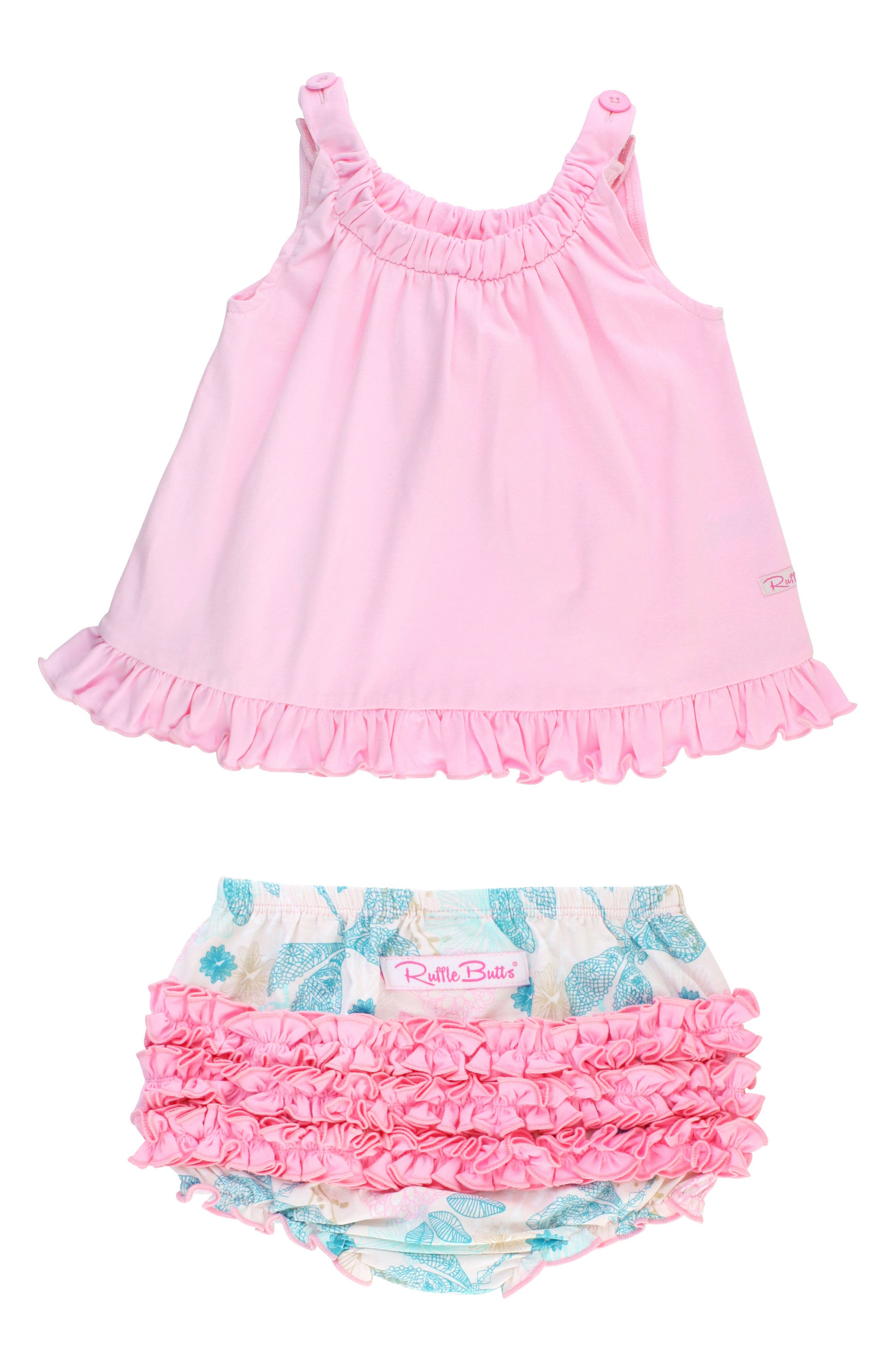 Dancing Dragonflies Swing Top & Ruffle Bloomers Set,                             Main thumbnail 1, color,                             Pink