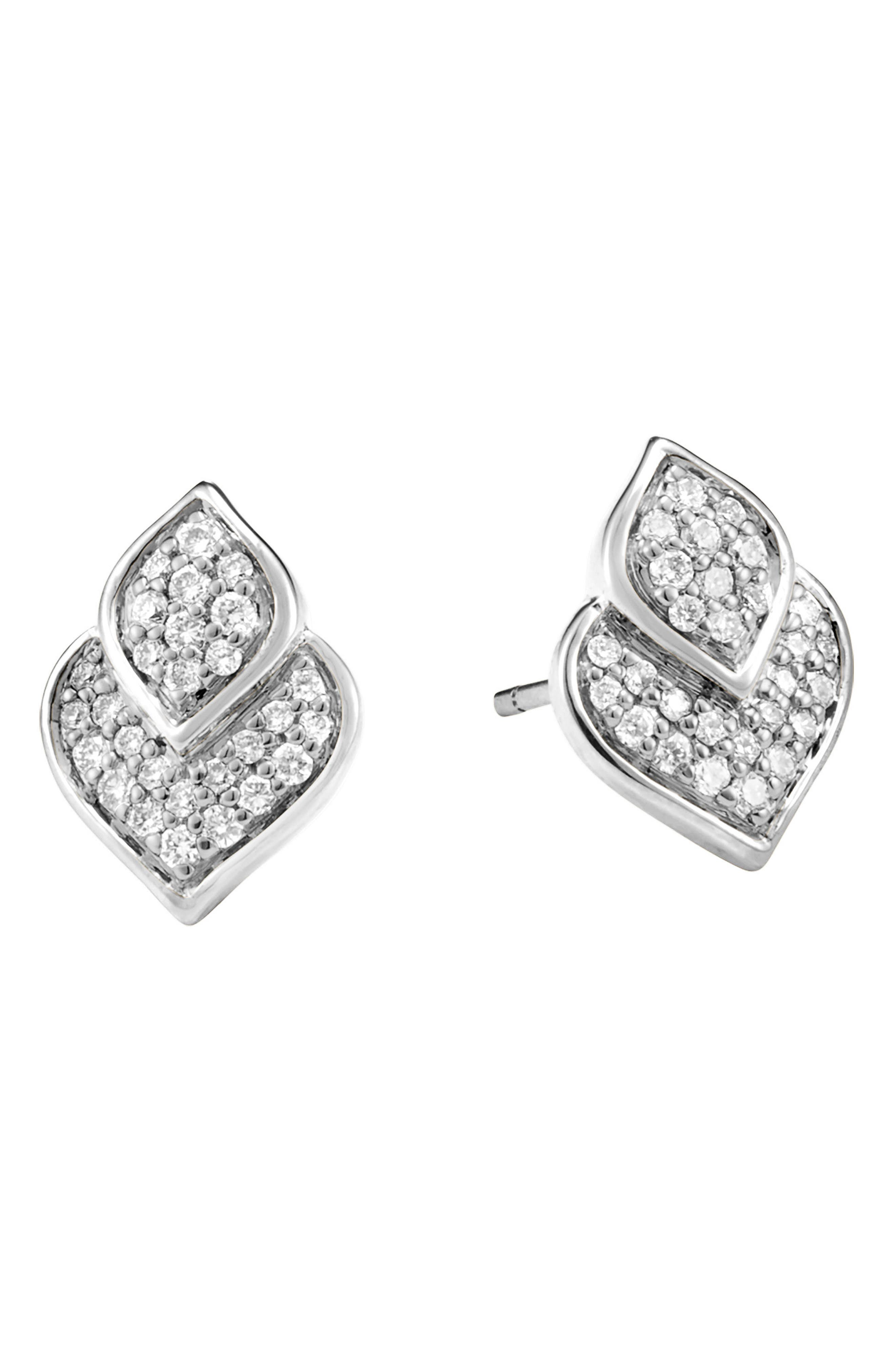 John Hardy Legends Naga Pavé Diamond Stud Earrings