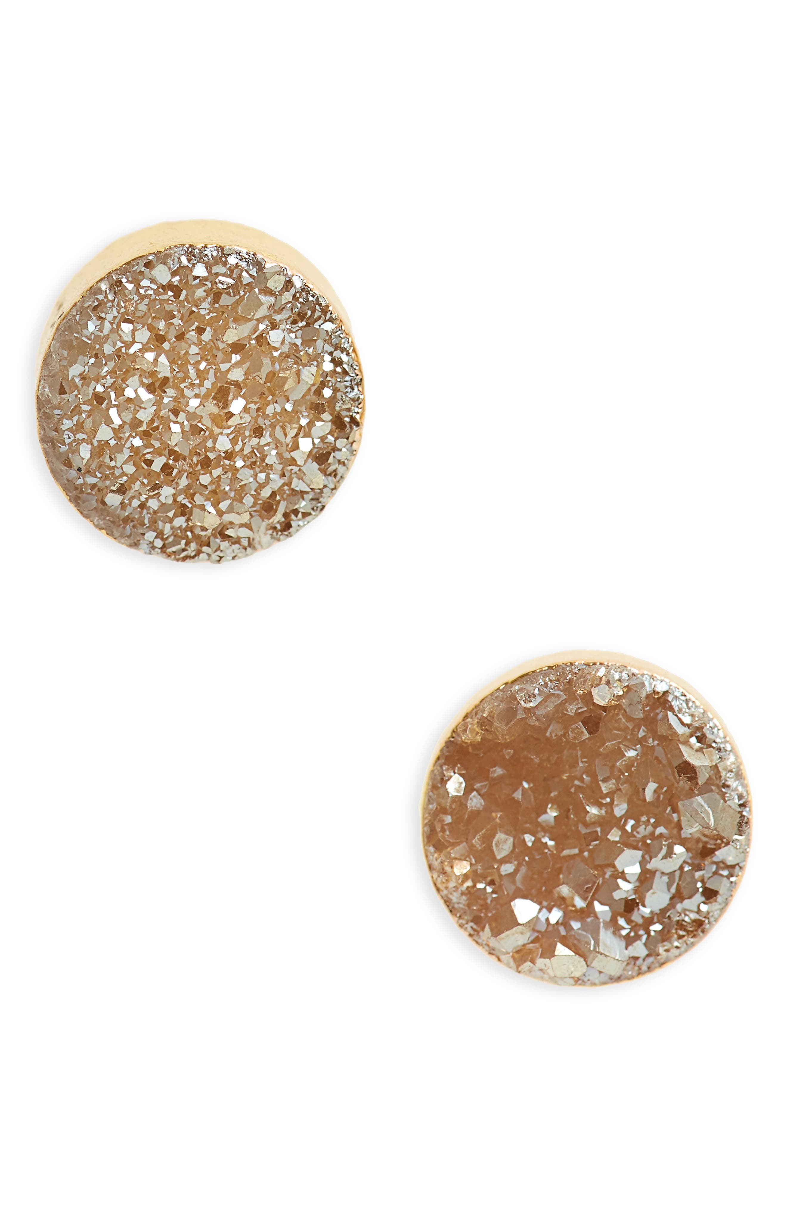 Panacea Drusy Stud Earrings