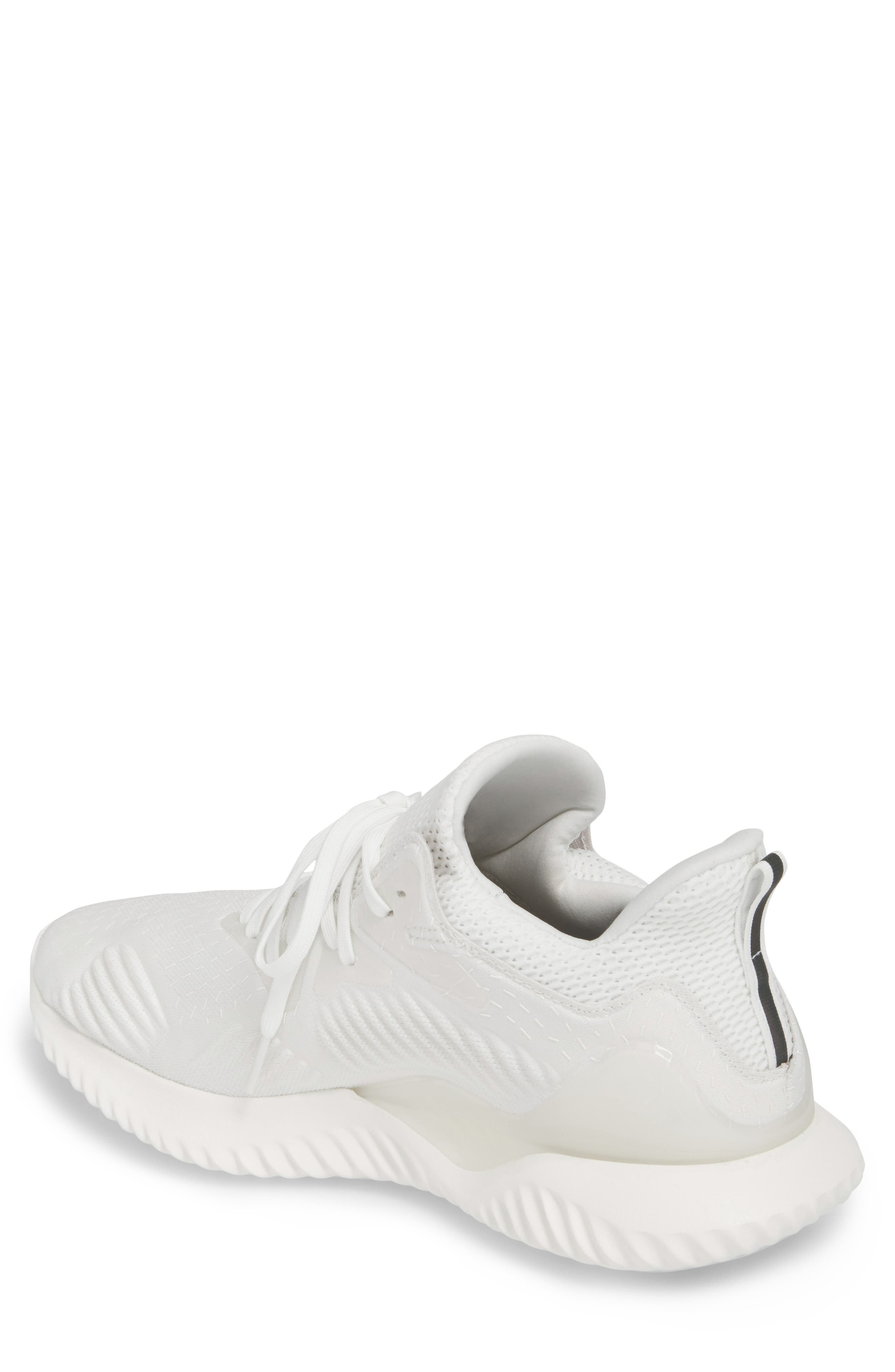 AlphaBounce Beyond Knit Running Shoe,                             Alternate thumbnail 2, color,                             Core Black/ Non-Dyed/ White