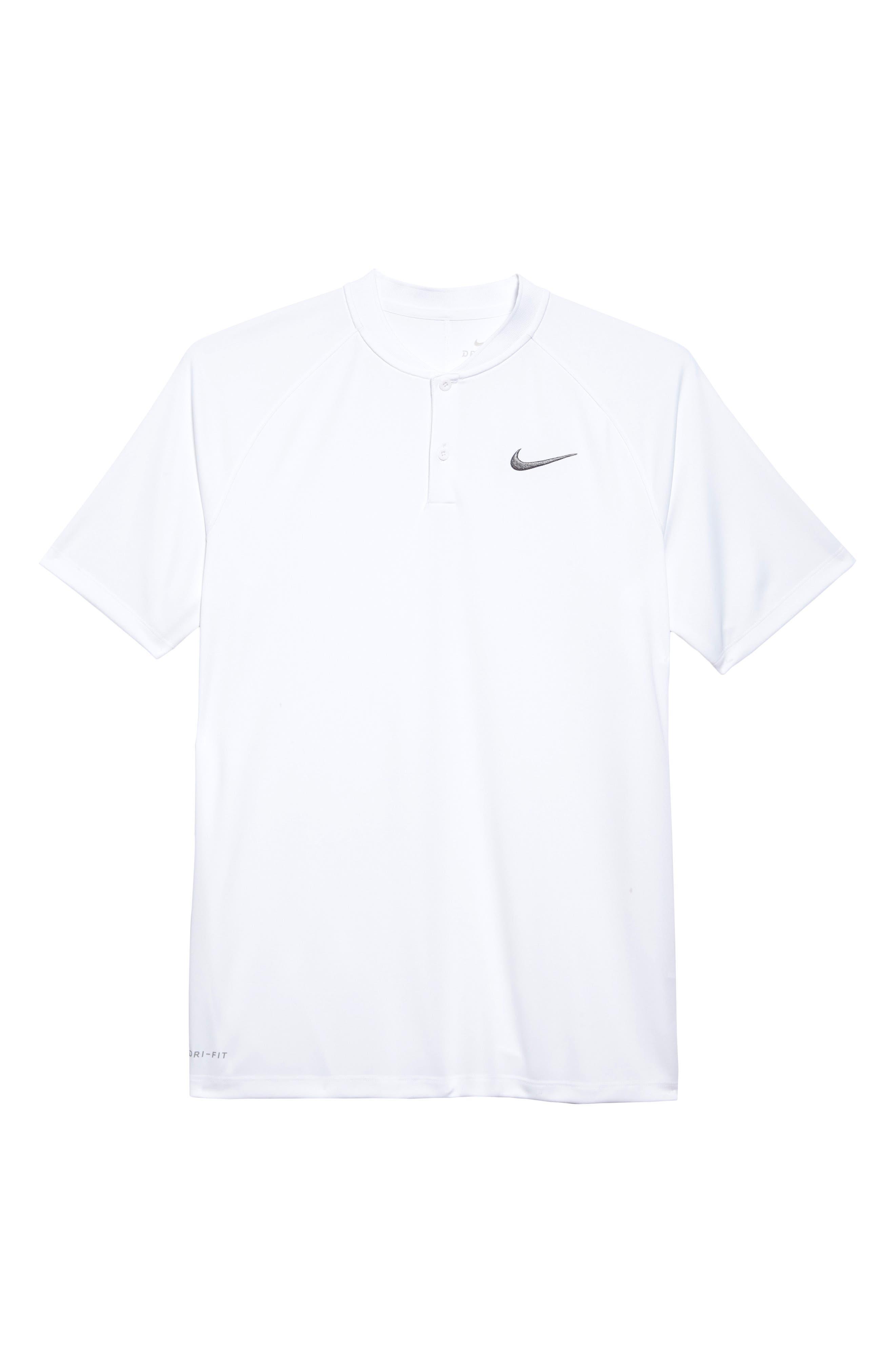 Dry Momentum Golf Polo,                             Alternate thumbnail 6, color,                             White/ White/ Black