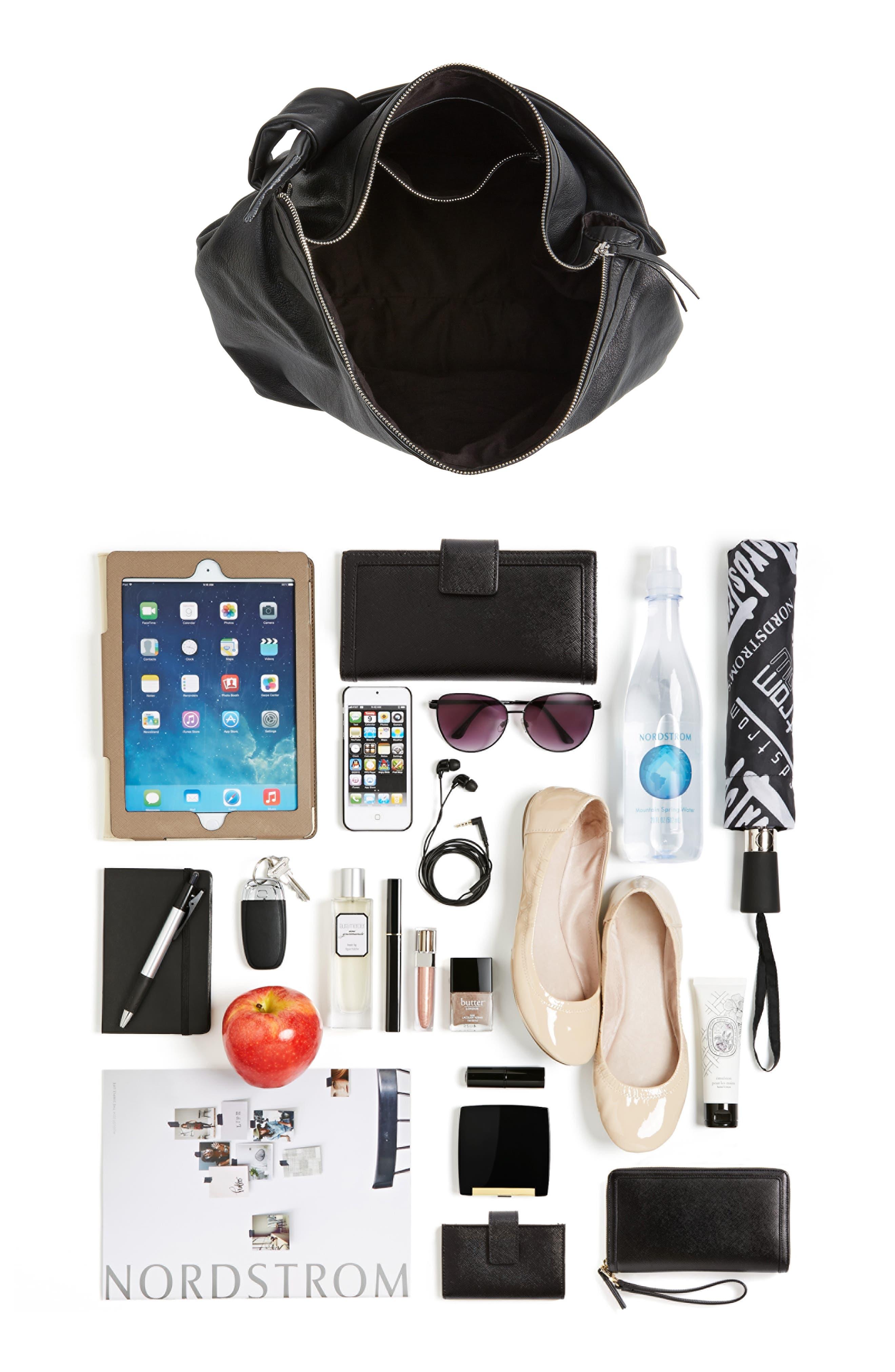 Premium Leather Jasmine Hobo Bag,                             Alternate thumbnail 6, color,