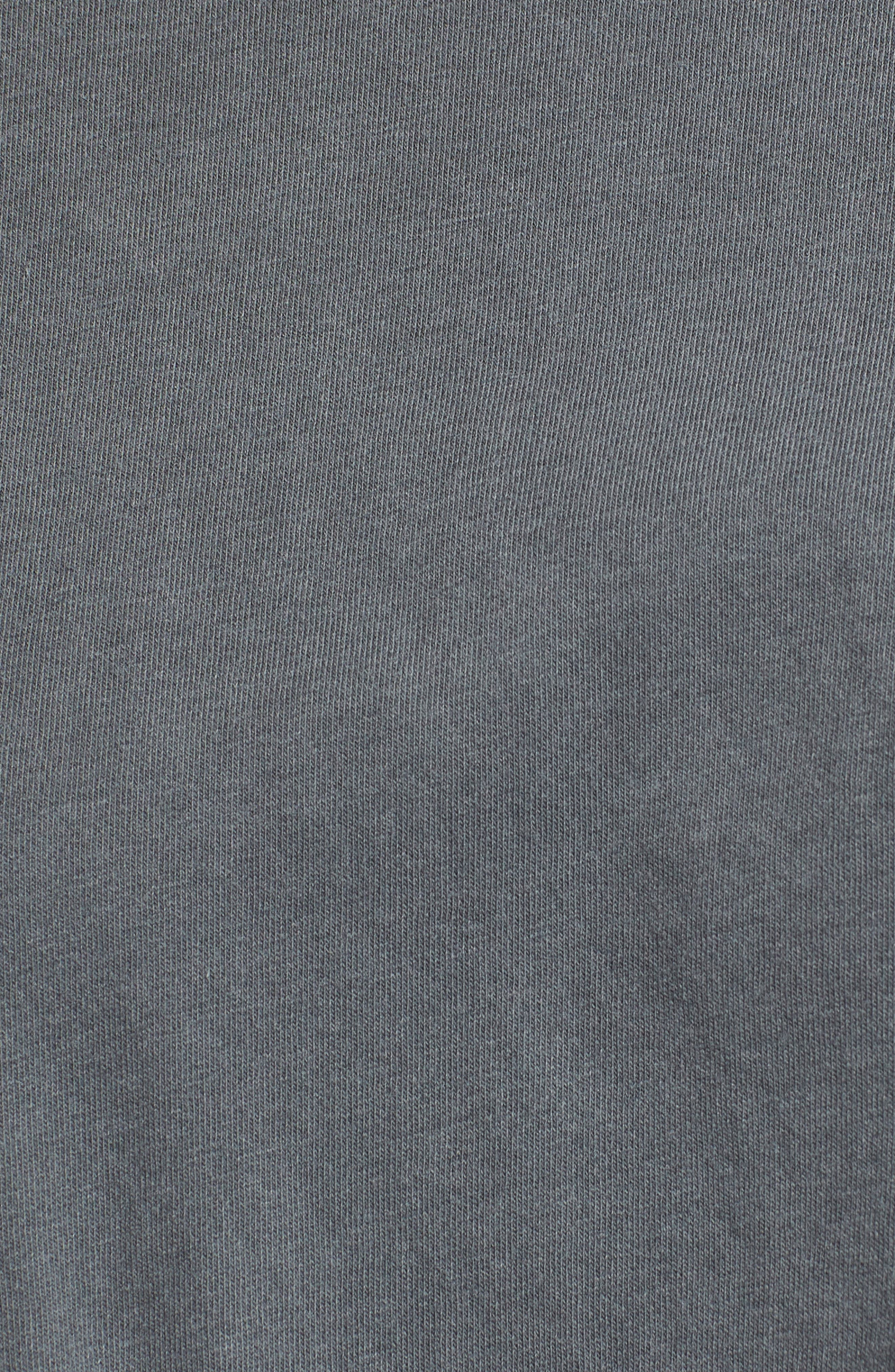 Twist Hem Brushed Jersey Tee,                             Alternate thumbnail 5, color,                             Charcoal