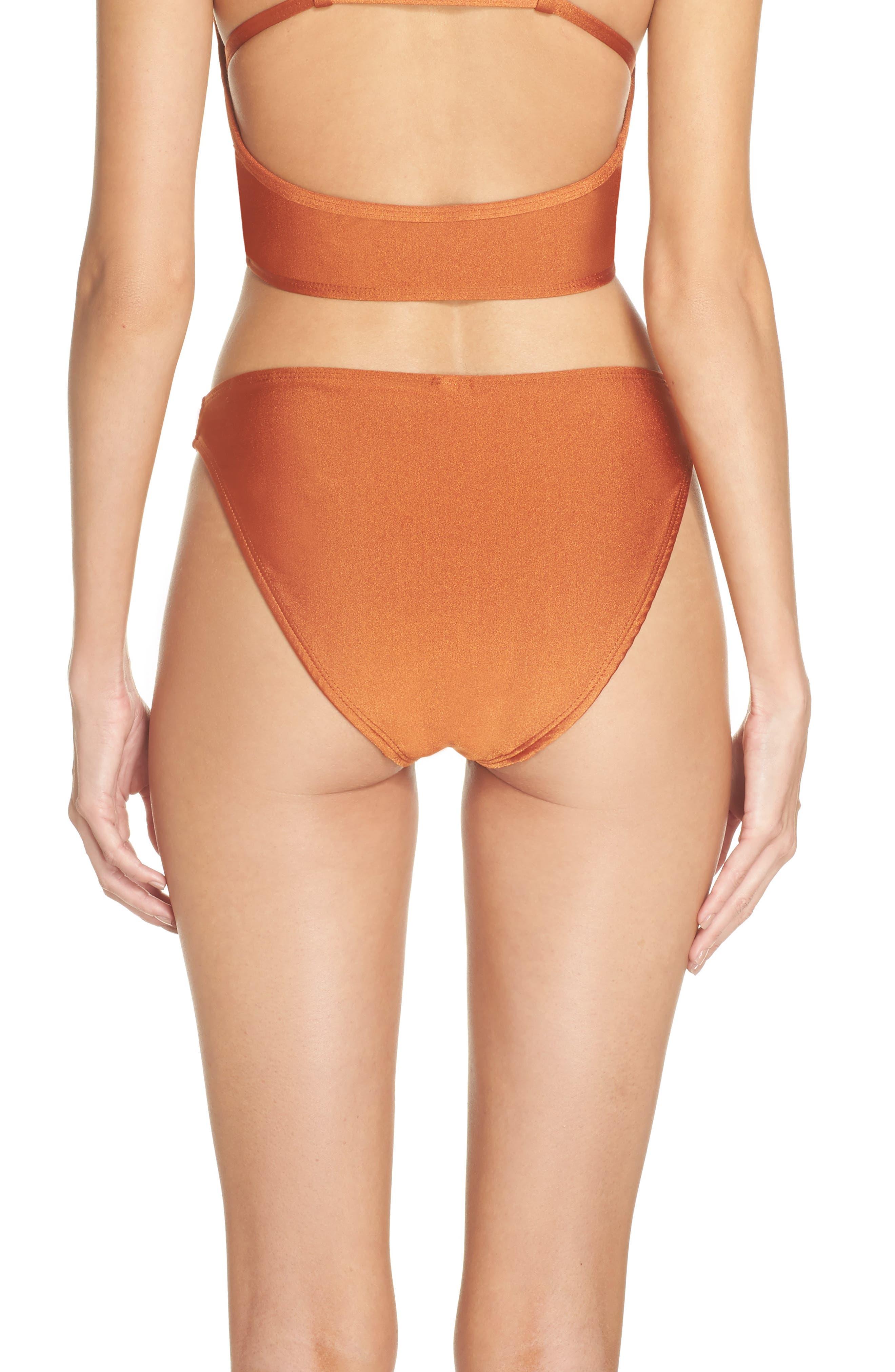 Lindsey Bikini Bottoms,                             Alternate thumbnail 2, color,                             Ginger Orange