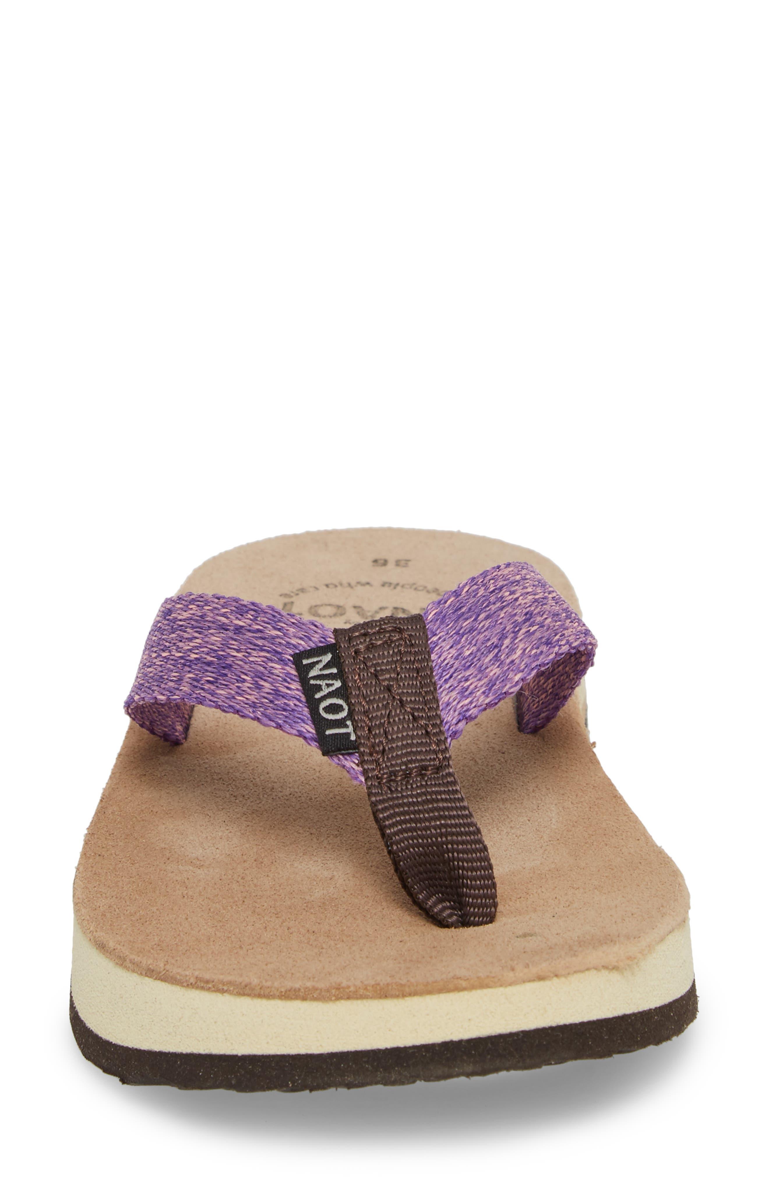 Island Flip Flop,                             Alternate thumbnail 4, color,                             Purple Lilac Fabric