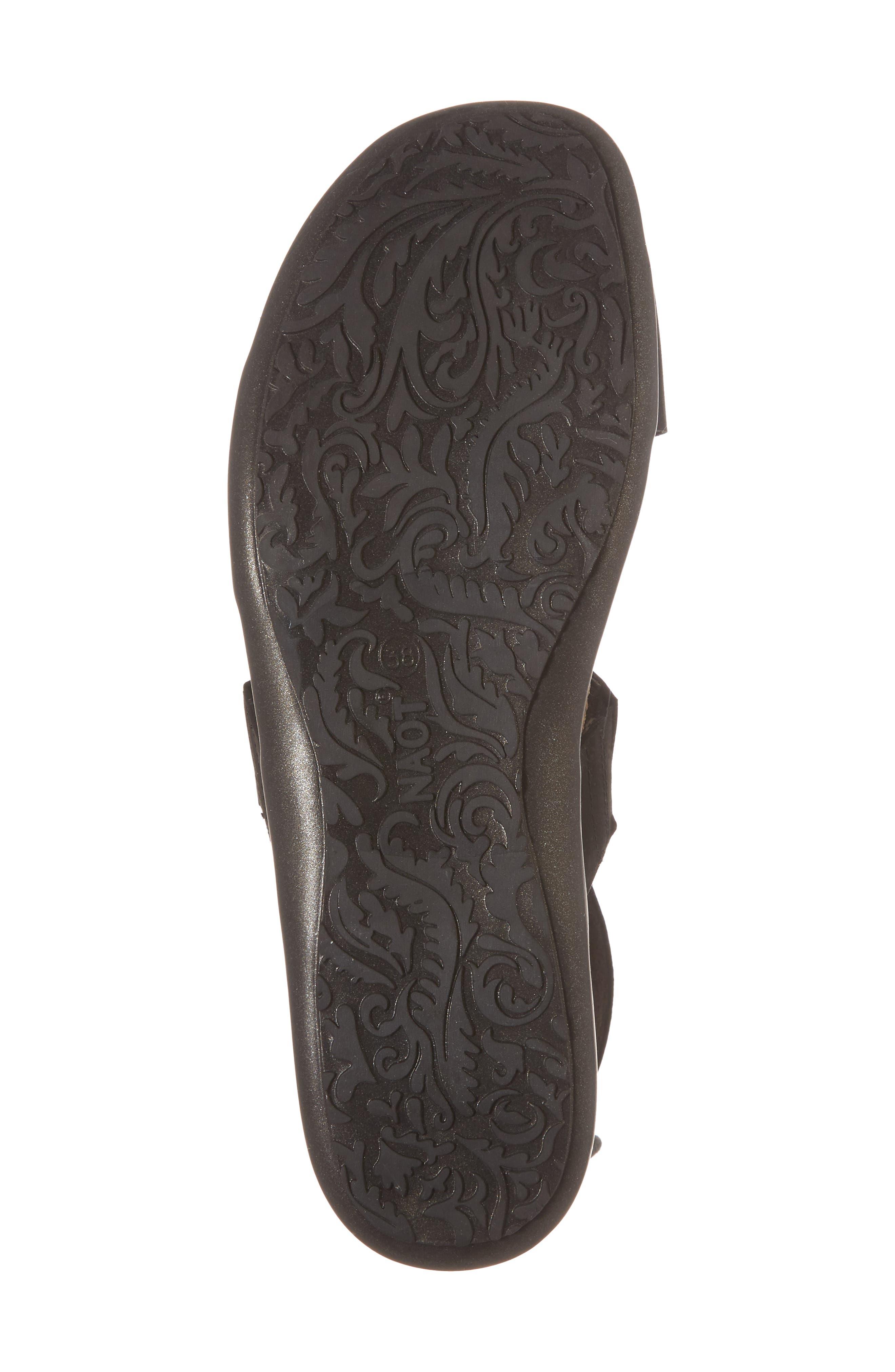 Larissa Ankle Strap Sandal,                             Alternate thumbnail 6, color,                             Black Velvet Nubuck