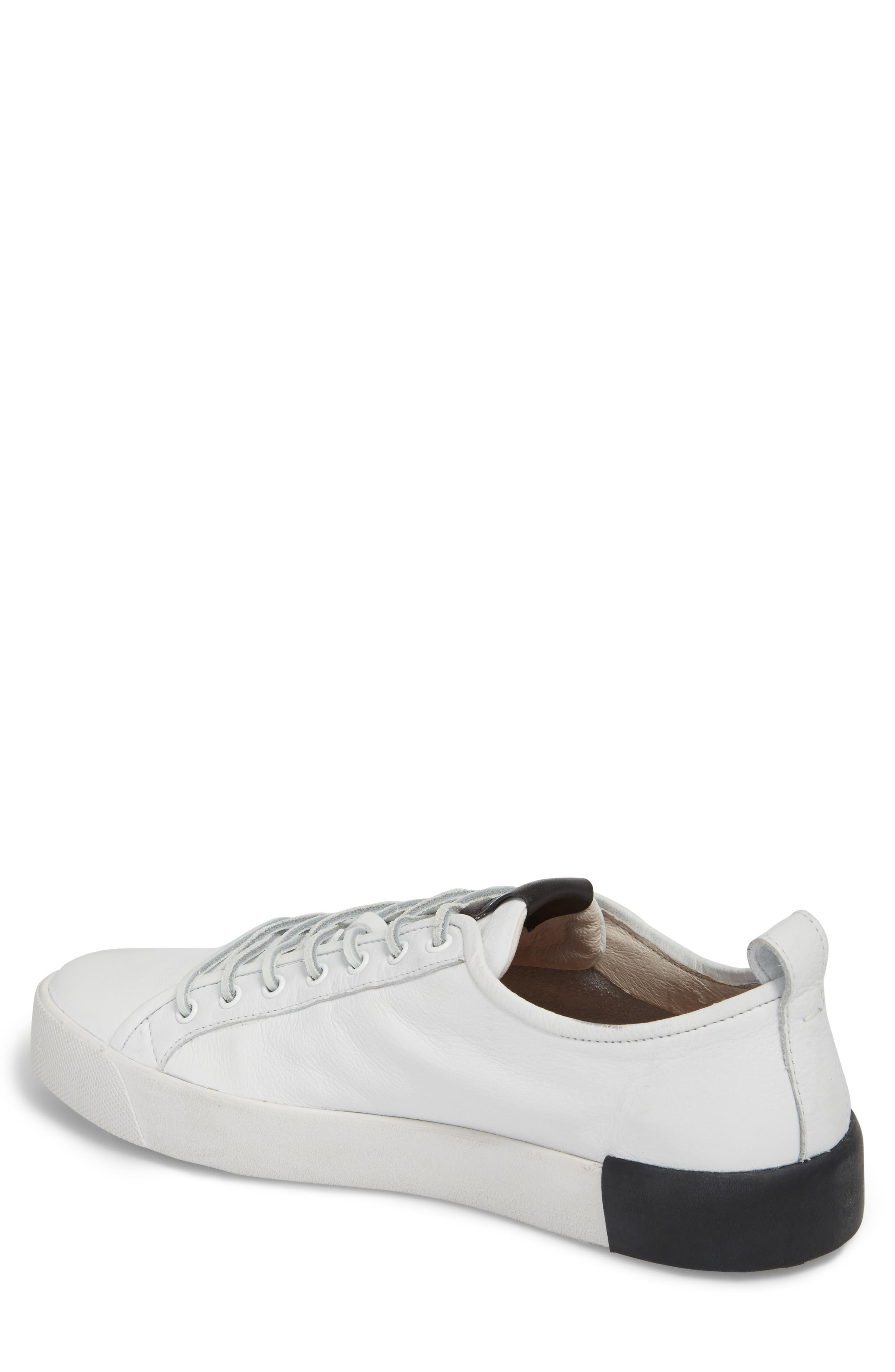 PM66 Low Top Sneaker,                             Alternate thumbnail 2, color,                             White Leather