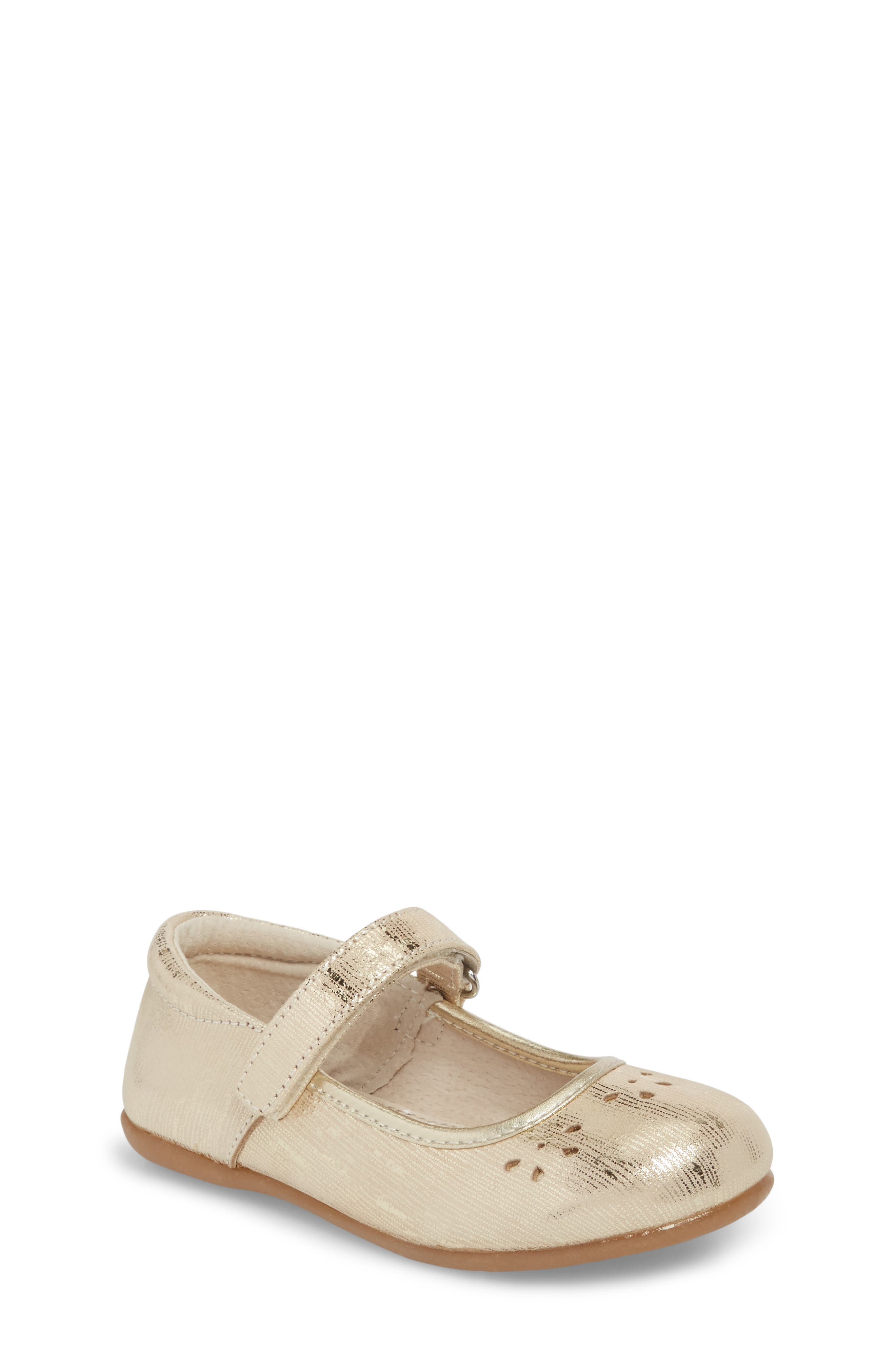 Ginger III Metallic Leather Mary Jane,                         Main,                         color, Gold