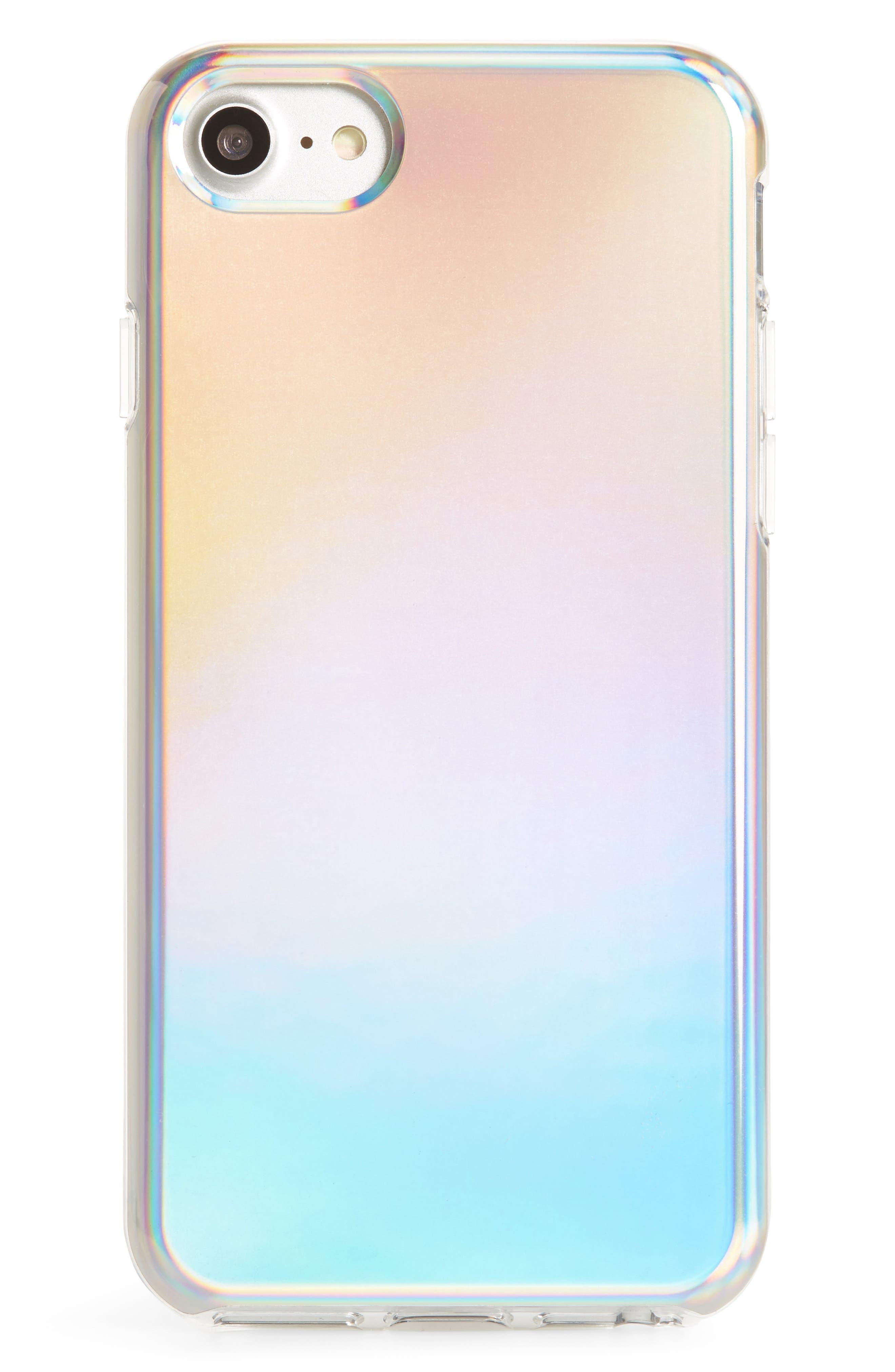 Holographic iPhone 7/8 & 7/8 Plus Case,                             Main thumbnail 1, color,                             Multi