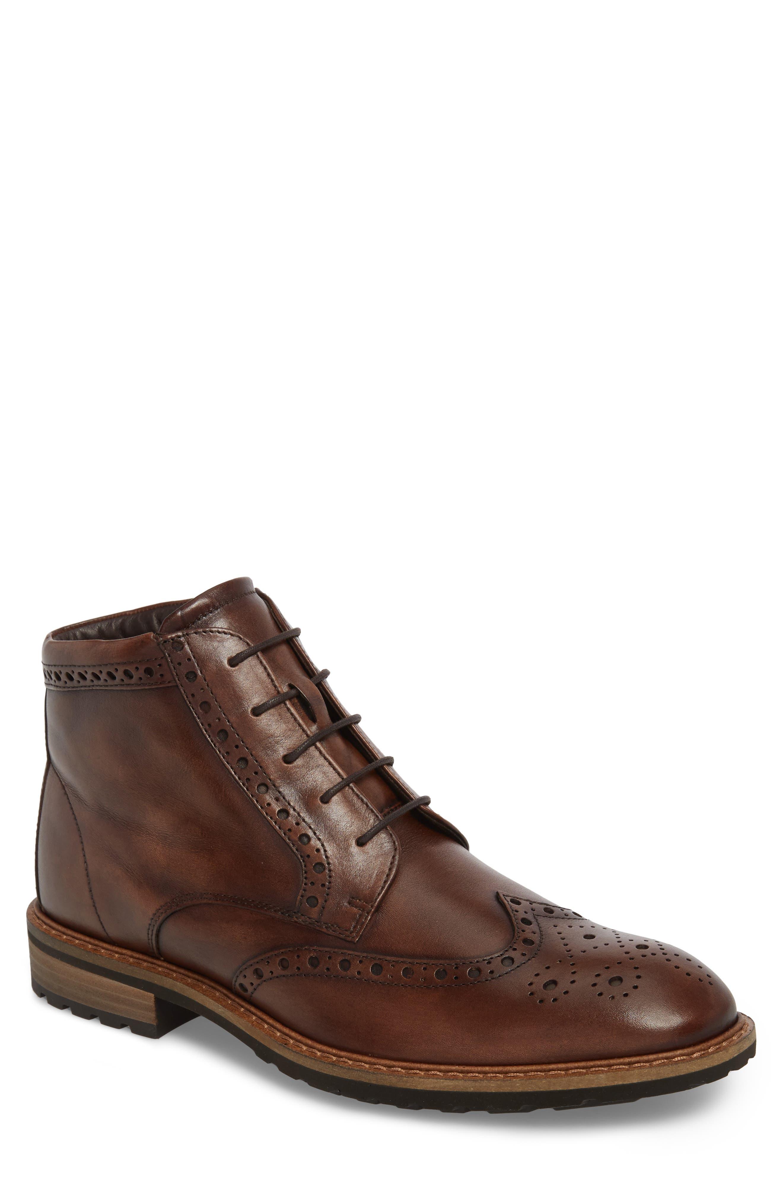 Vitrus I Wingtip Boot,                         Main,                         color, Nature Leather