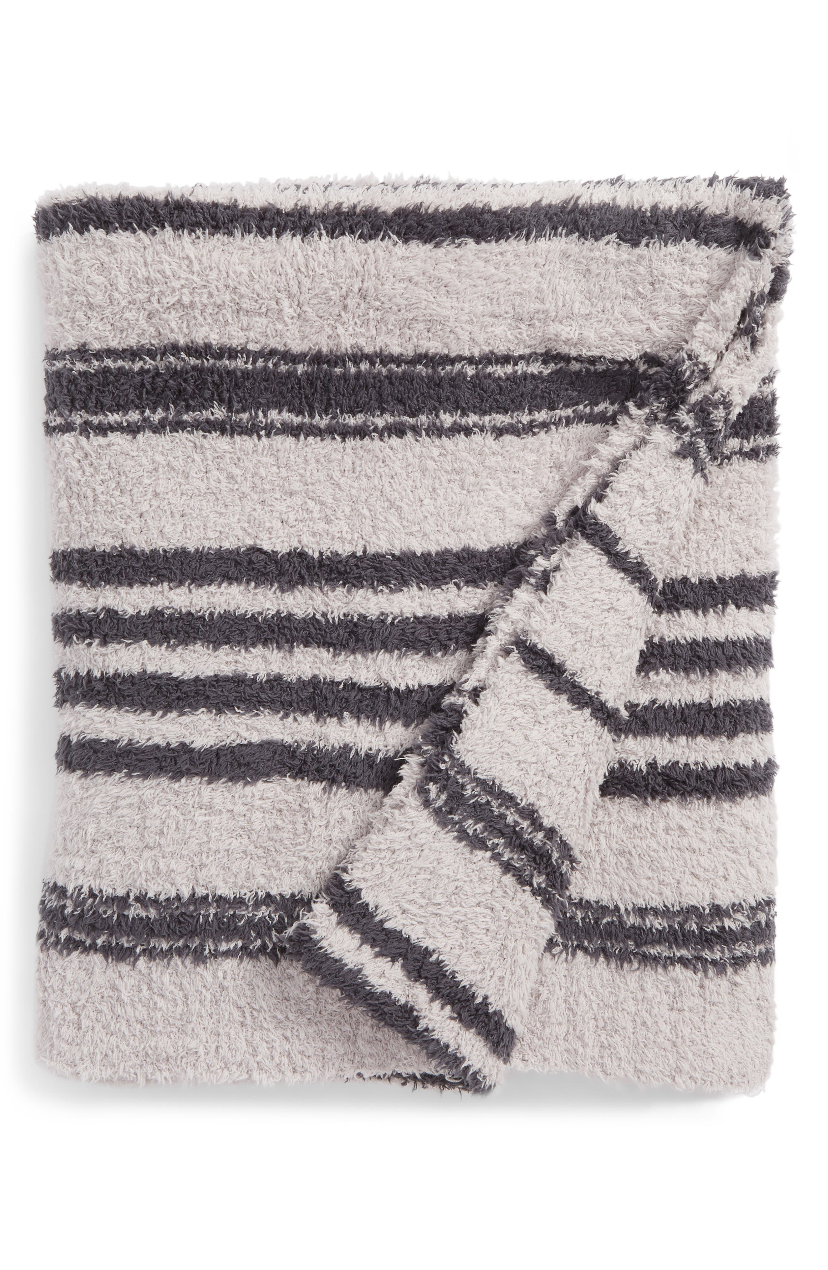 CozyChic<sup>™</sup> Multi Stripe Throw,                             Main thumbnail 1, color,                             Oyster/ Slate Blue