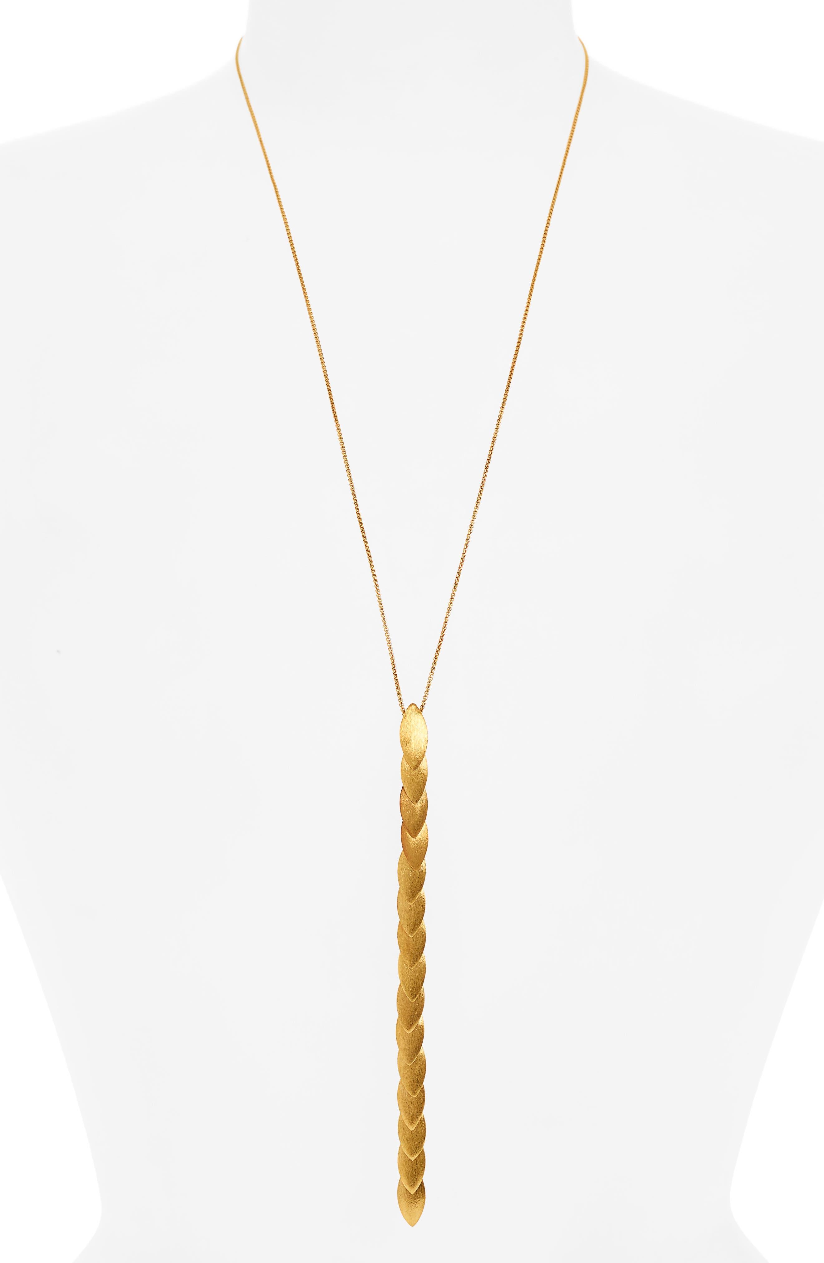 Taj Lariat Necklace,                         Main,                         color, Gold