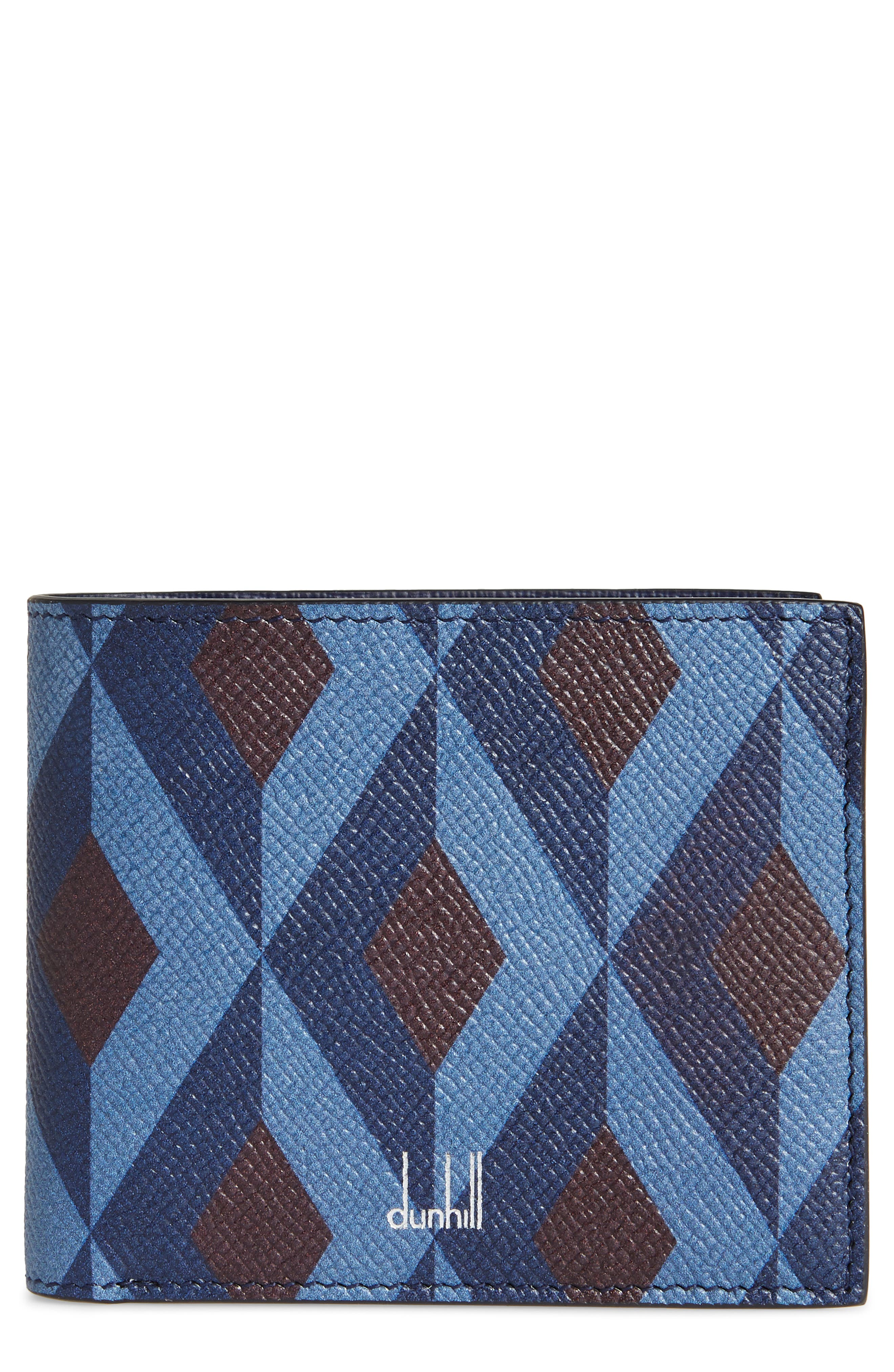 Cadogan Leather Wallet,                         Main,                         color, Navy