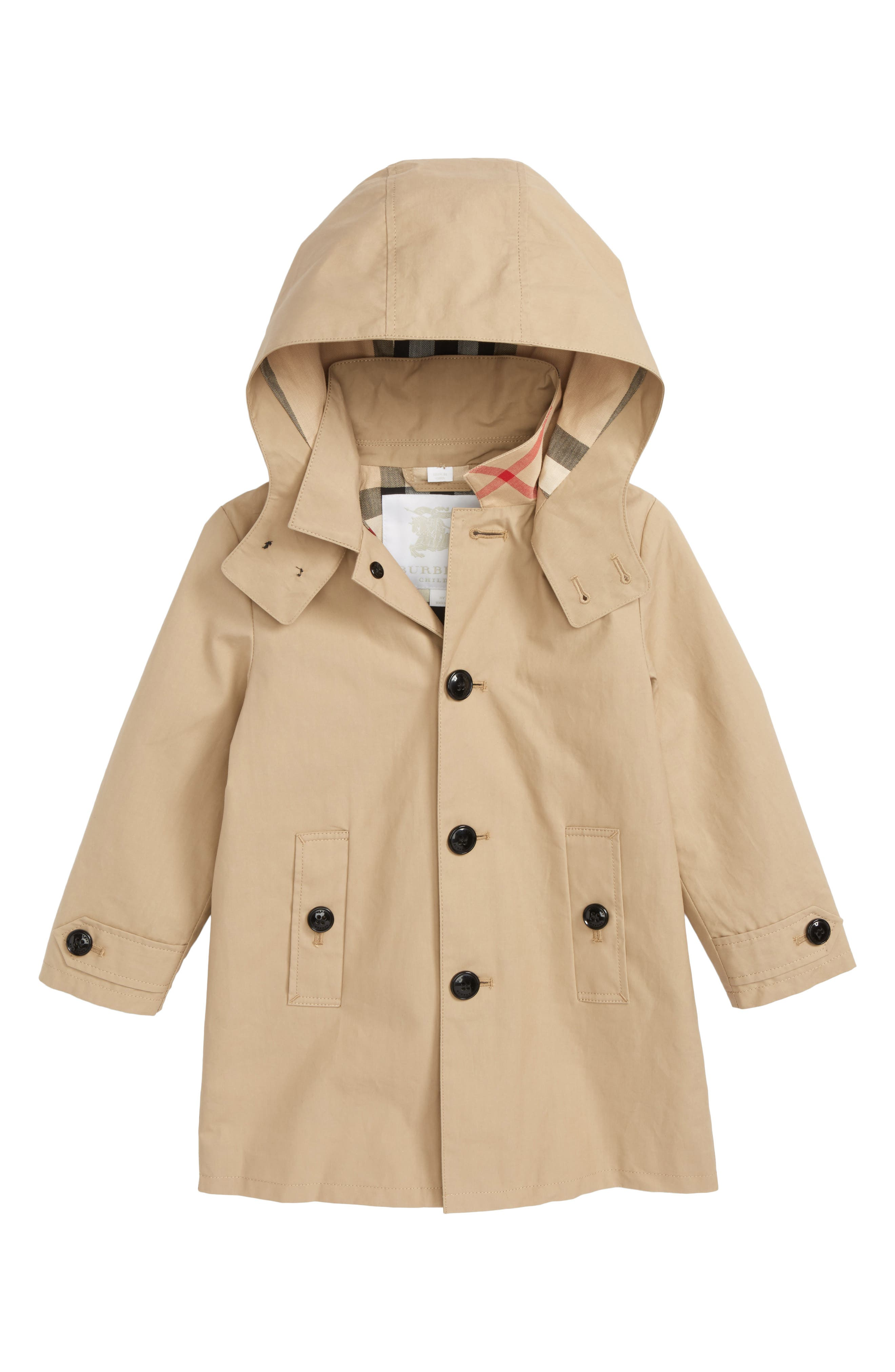 Burberry Bradley Hooded Trench Coat (Toddler Boys)
