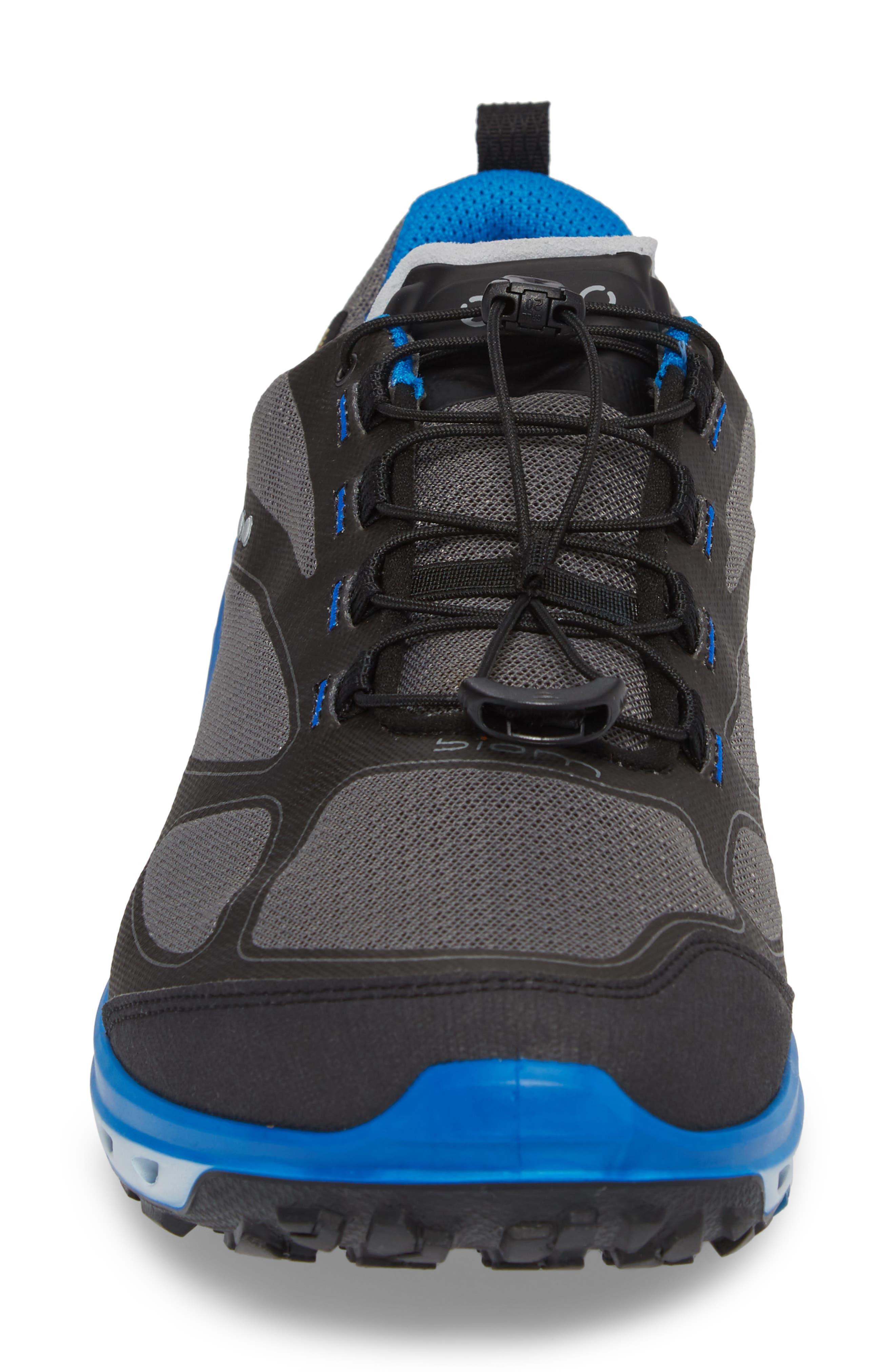 BIOM Venture GTX Sneaker,                             Alternate thumbnail 4, color,                             Black/ Titanium Leather