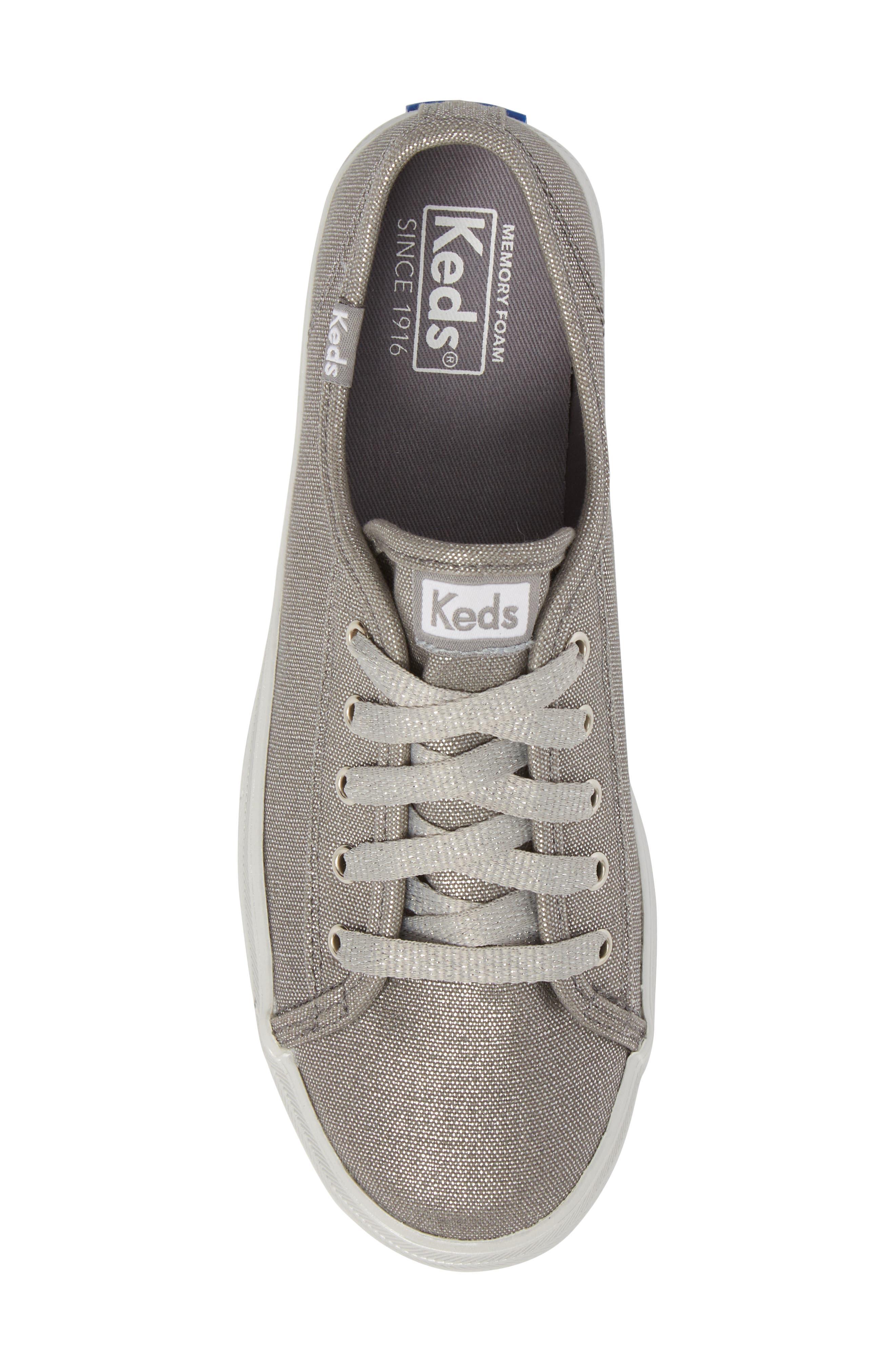 Triple Kick Platform Sneaker,                             Alternate thumbnail 5, color,                             Silver/ Silver