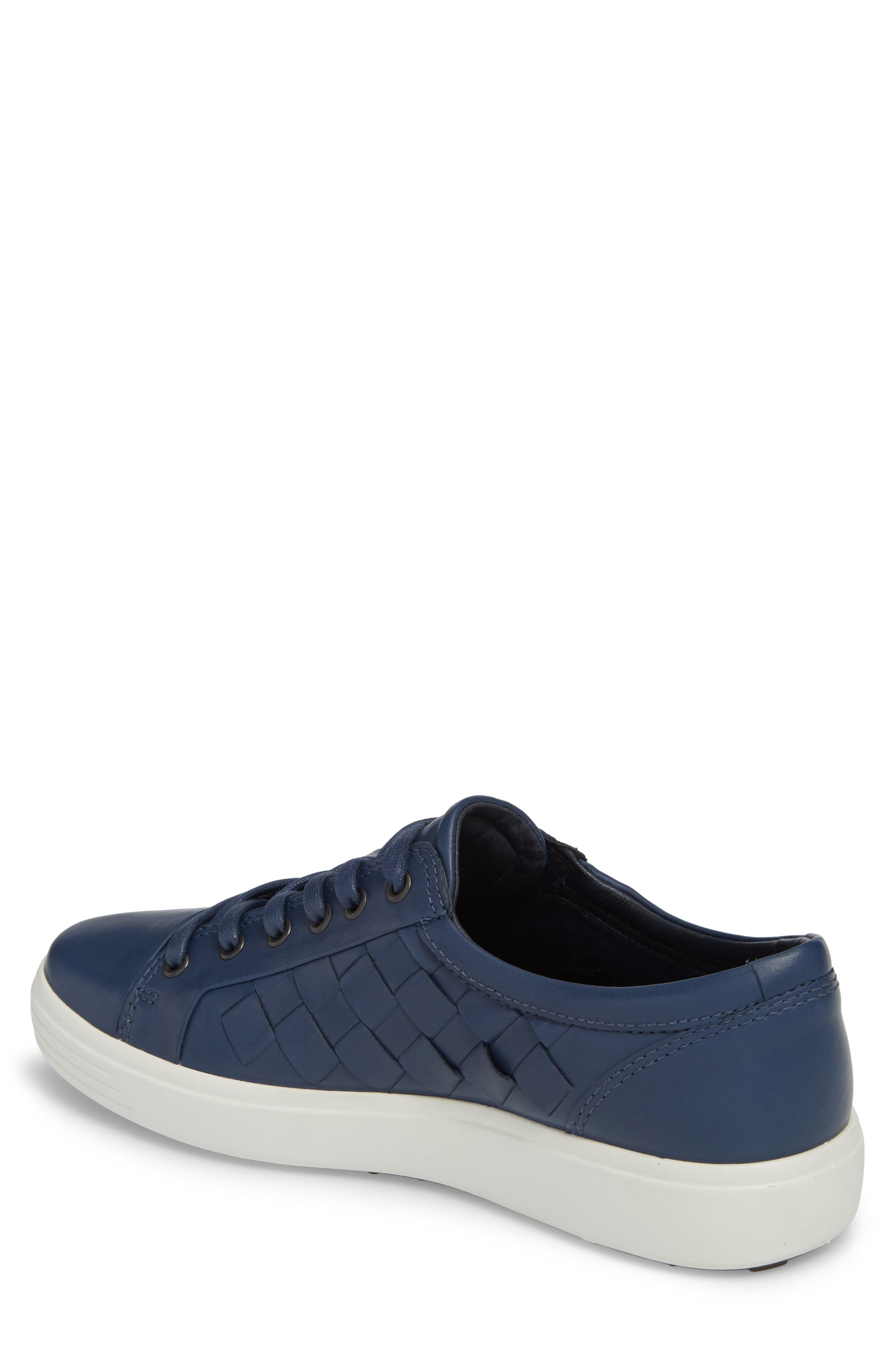 Soft 7 Woven Sneaker,                             Alternate thumbnail 2, color,                             True Navy Leather