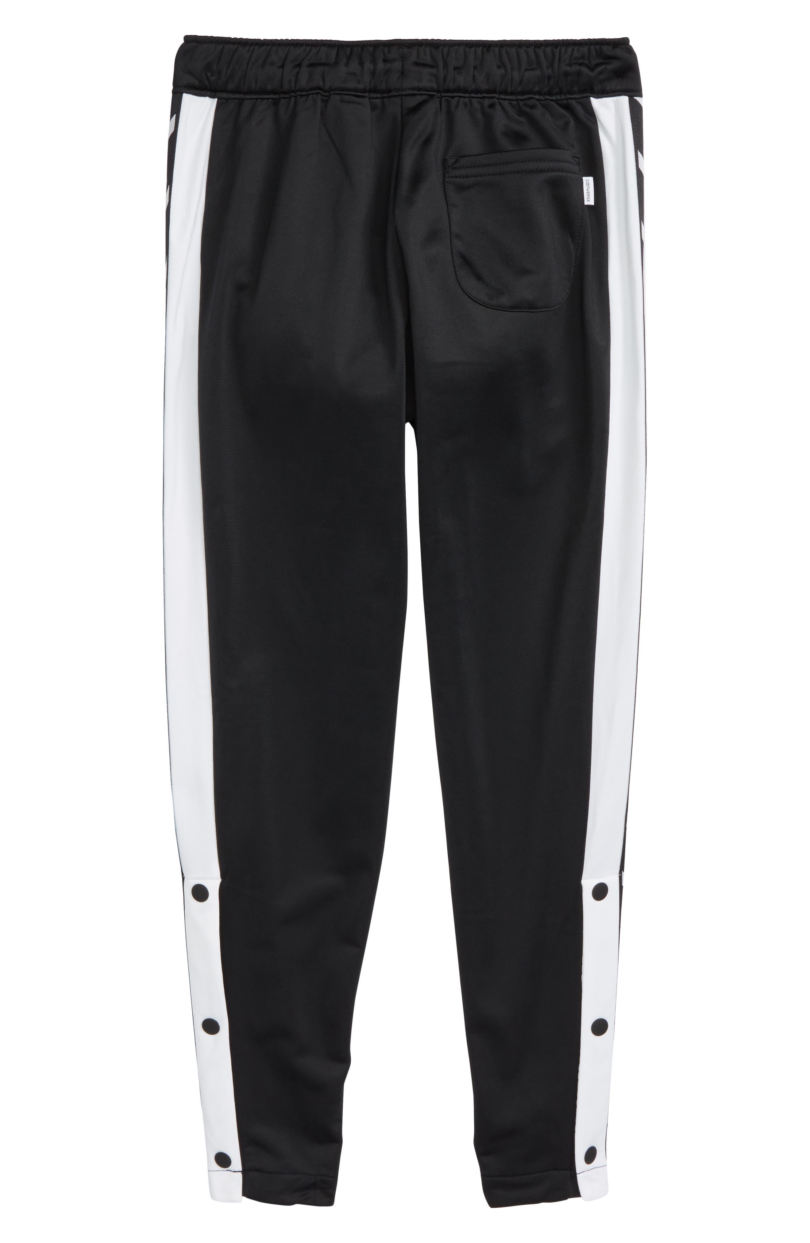 Heritage Snap Leg Warm-Up Pants,                             Alternate thumbnail 2, color,                             Black